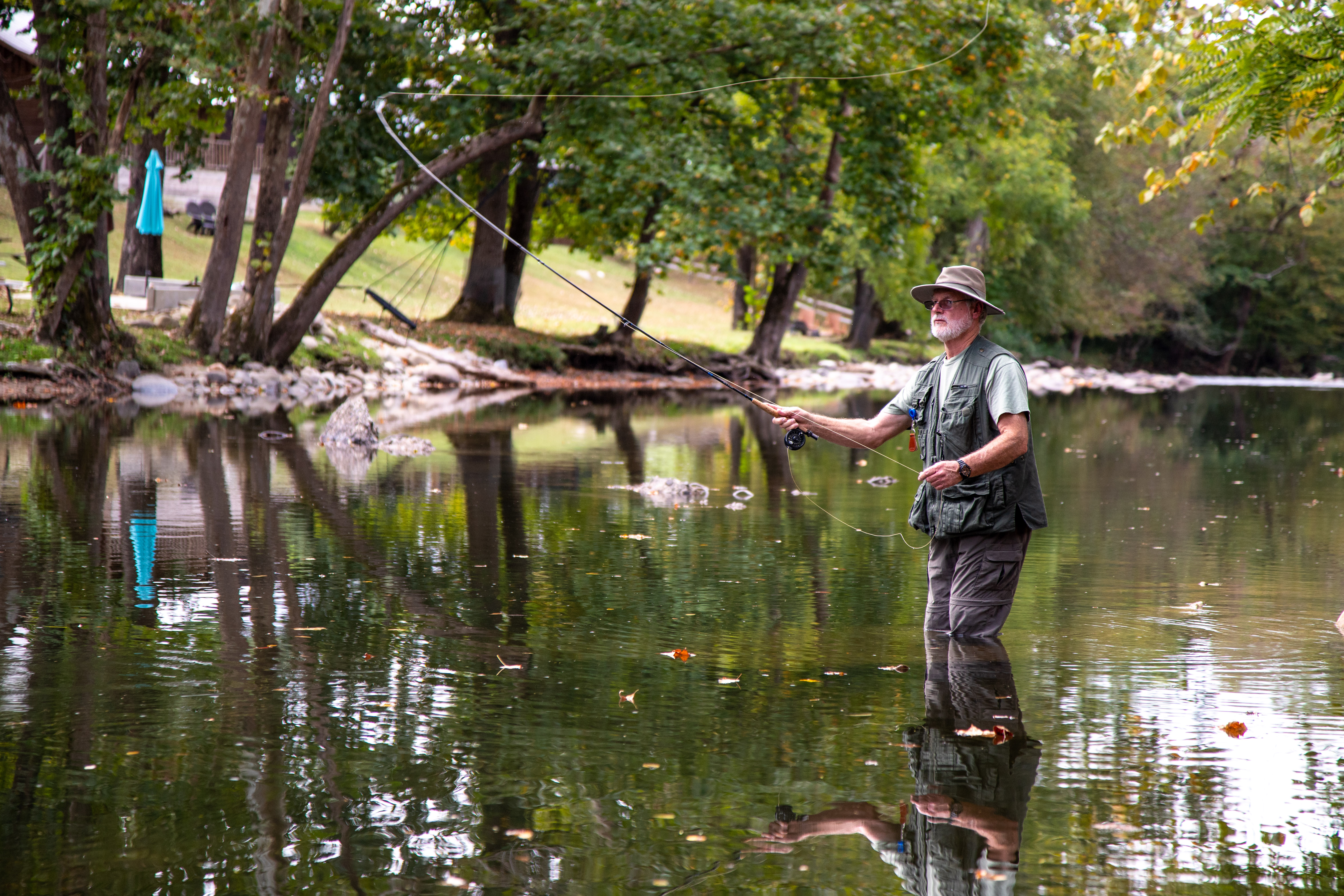 Little River stocked with rainbow trout by Tennesse Wild Life.
