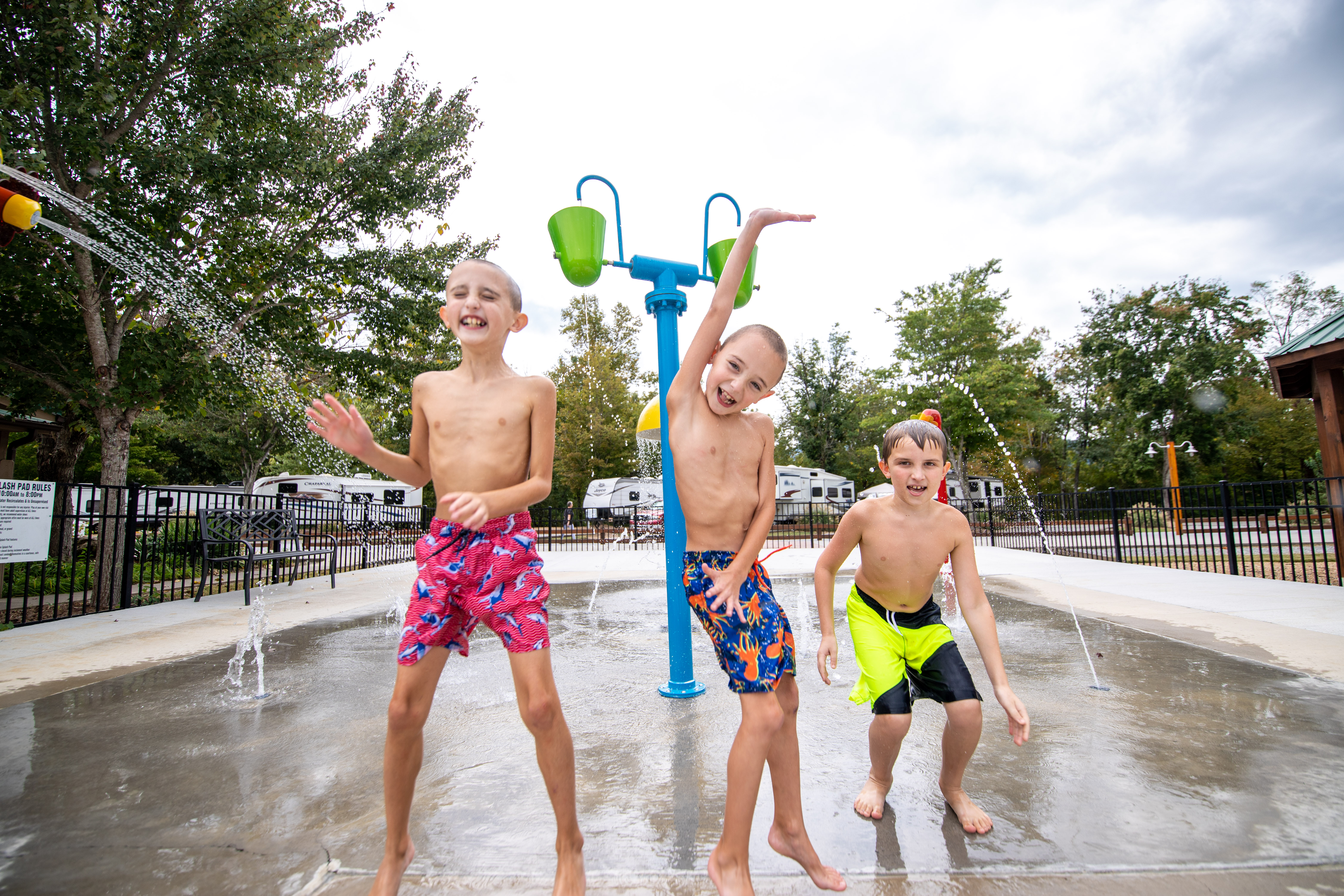Great fun in our splash for kids of all ages!