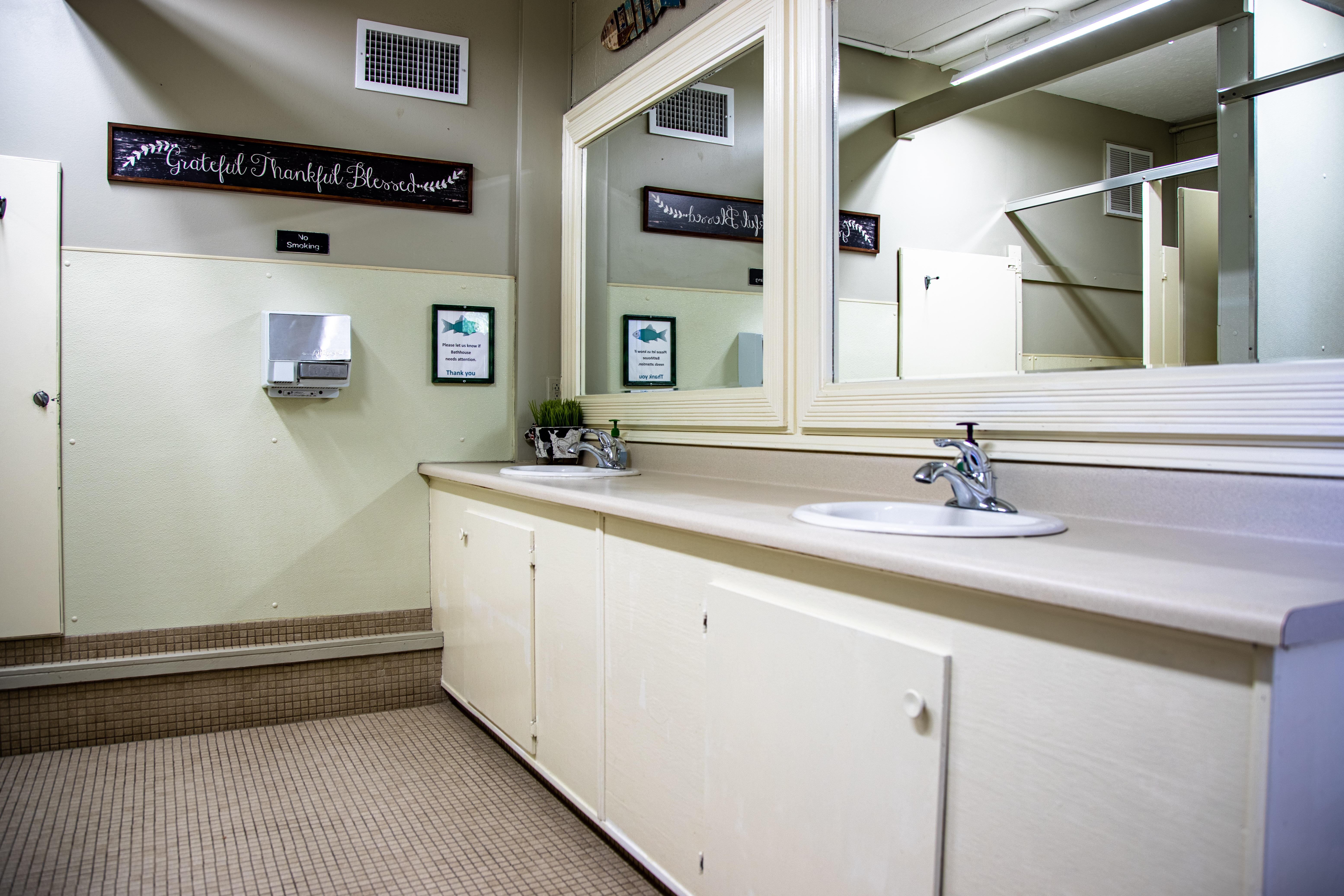 Climate controlled bathhouse.