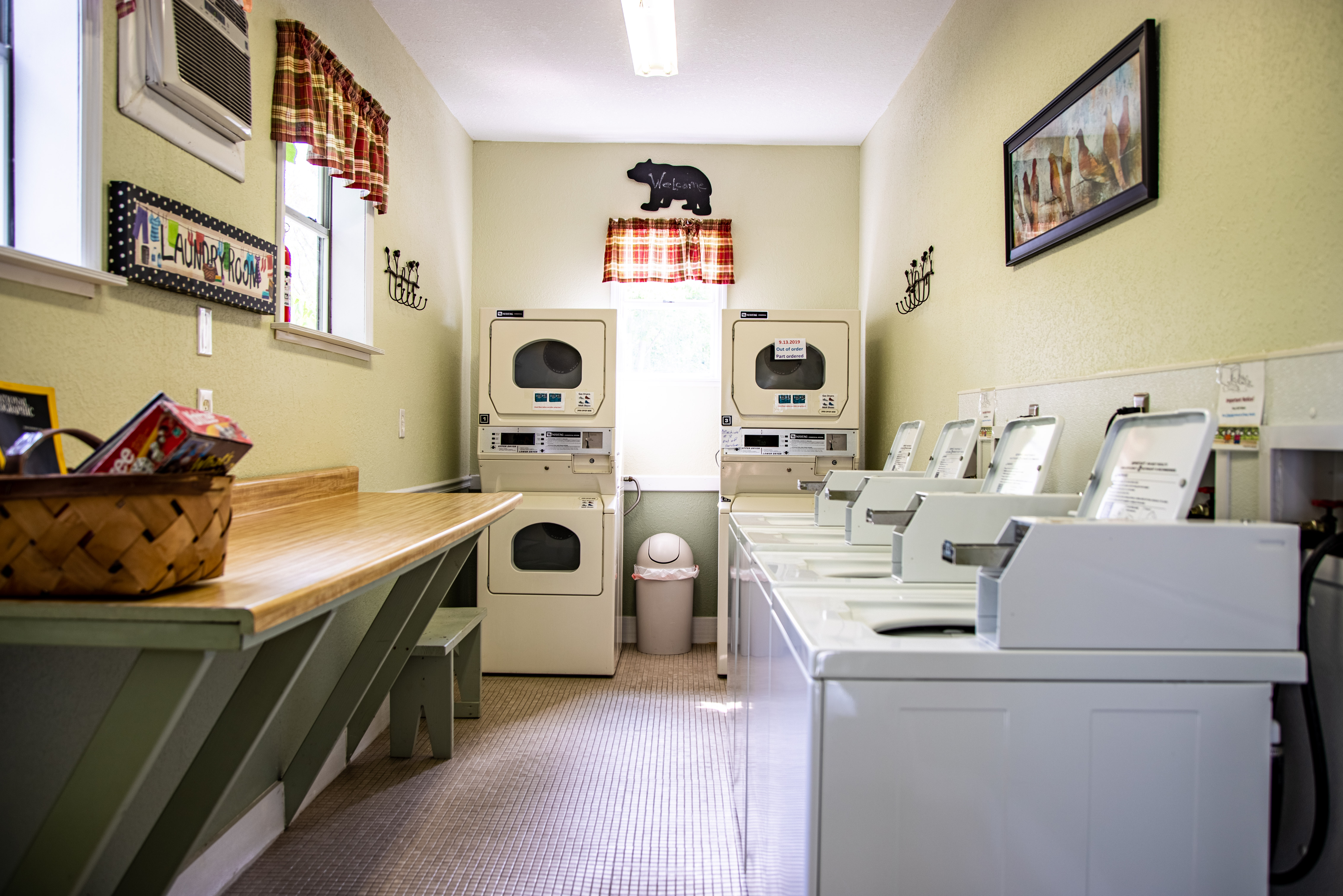 Clean laundry room.