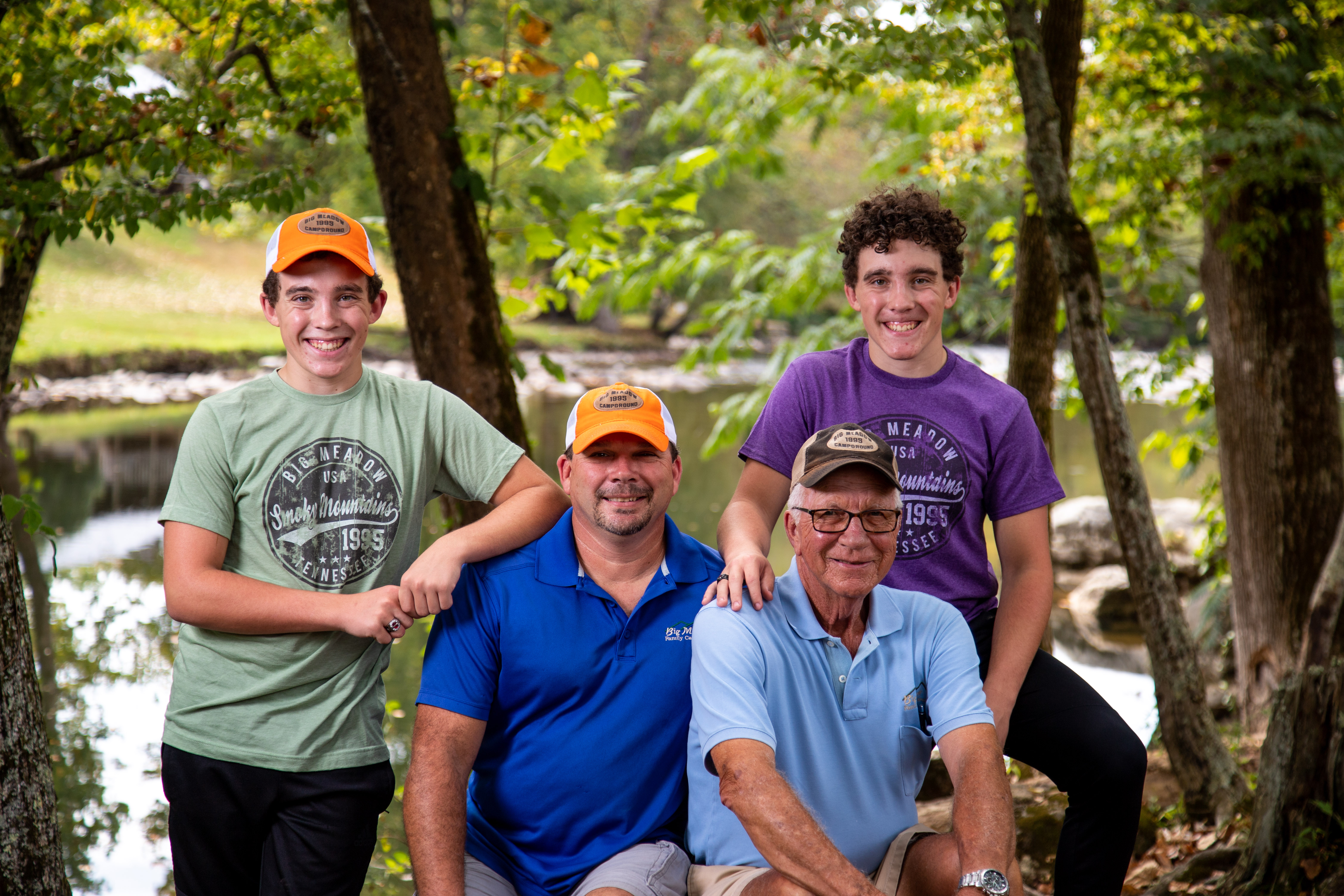 Third generation is being introduced into the family business.  Mason and Matthew Johnson.