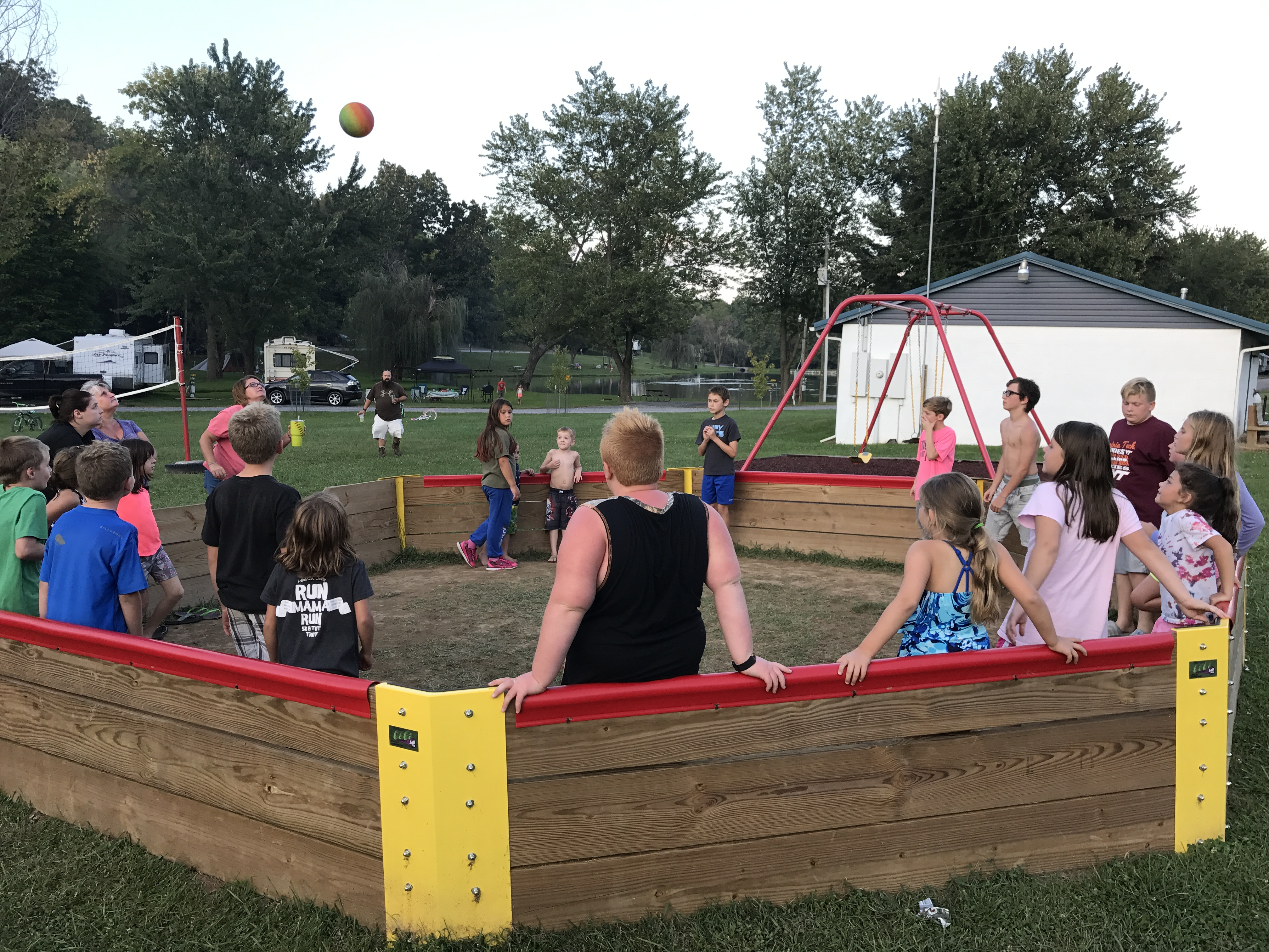 The gaga pit sees a lot of action!