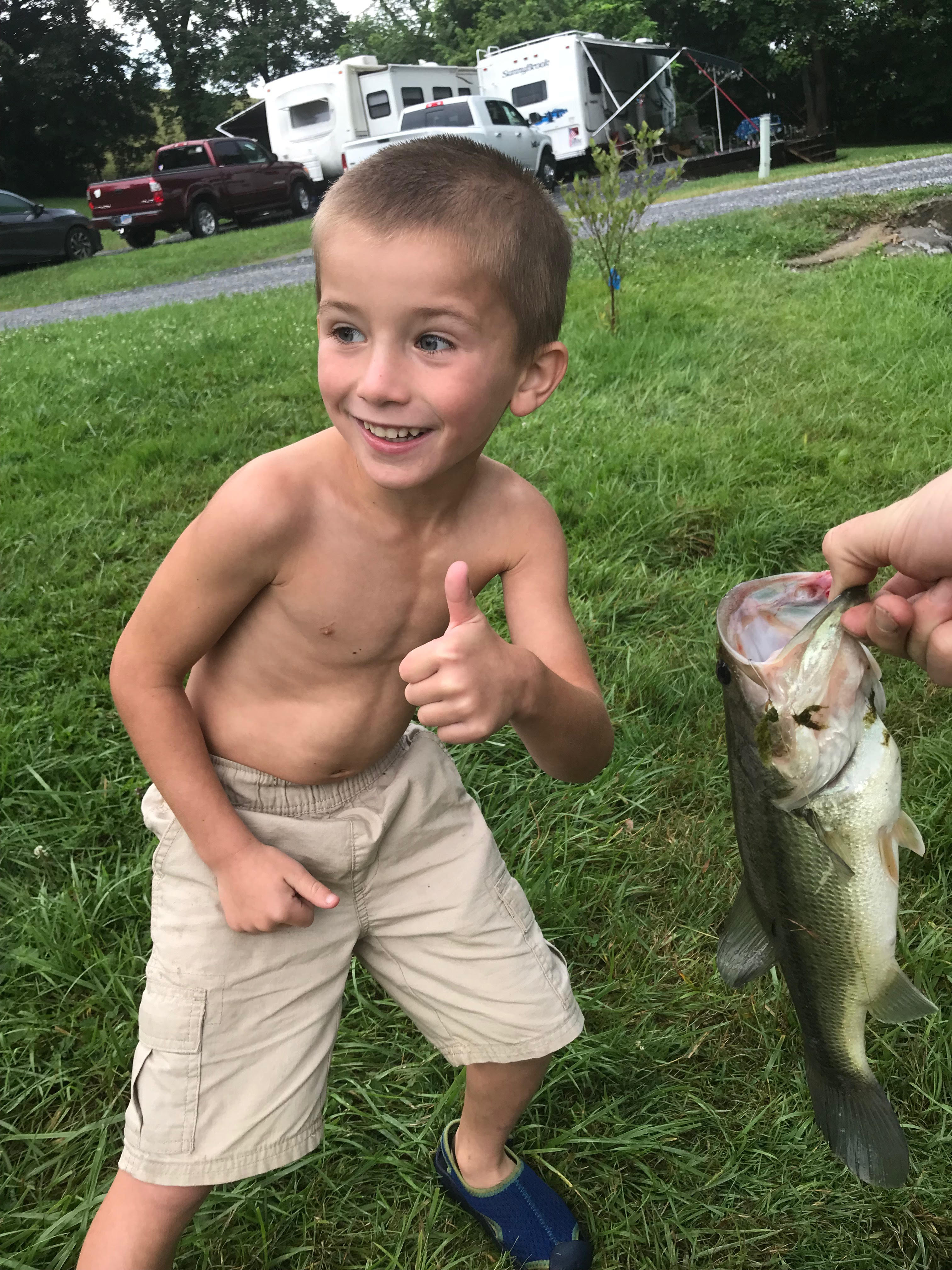 Our large-mouth bass run to nearly 8 pounds.