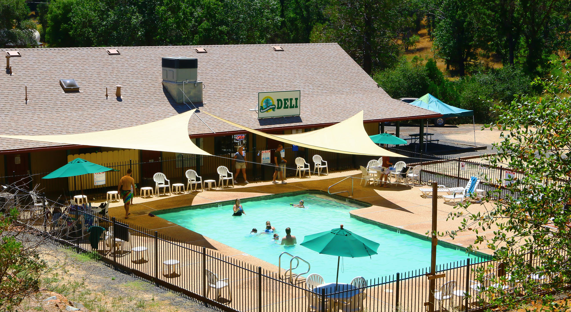 Our pool and adjacent Deli/Snack Bar will be open for your enjoyment as soon as Covid-19 restrictions are lifted.