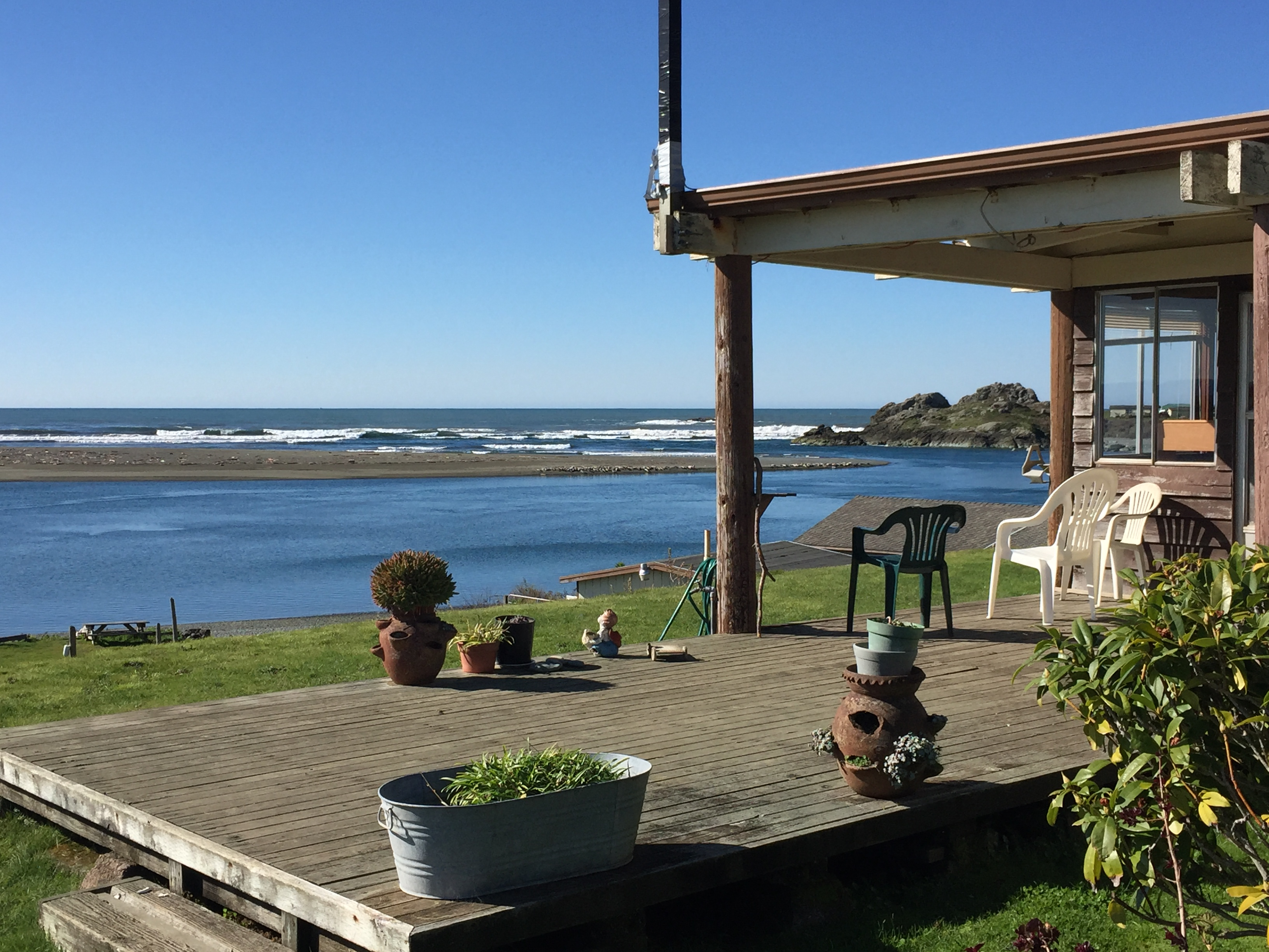 View from our North Park Club House of the Smith River and the Pacific Ocean