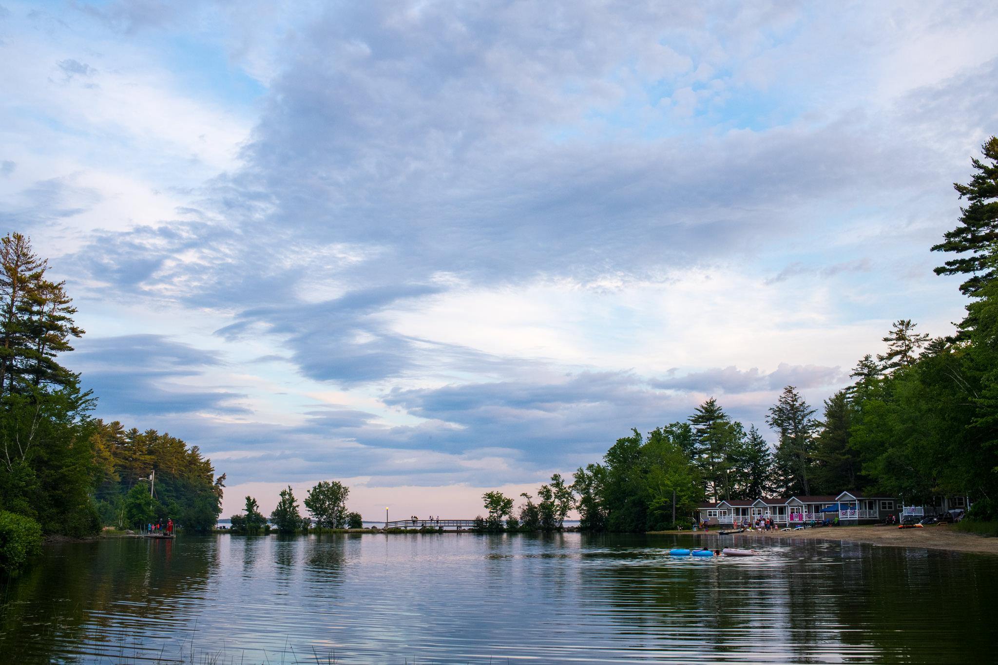 Sunsets on Sebago Lake