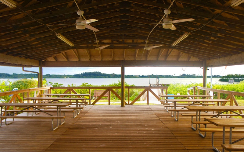 Large outdoor pavilion