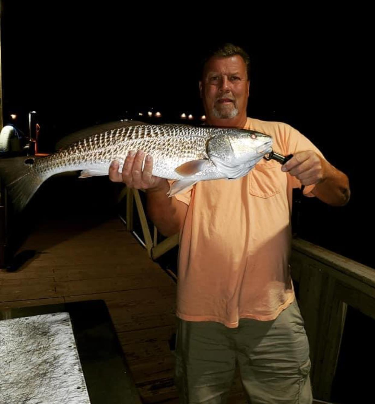 Caught while fishing on our pier!