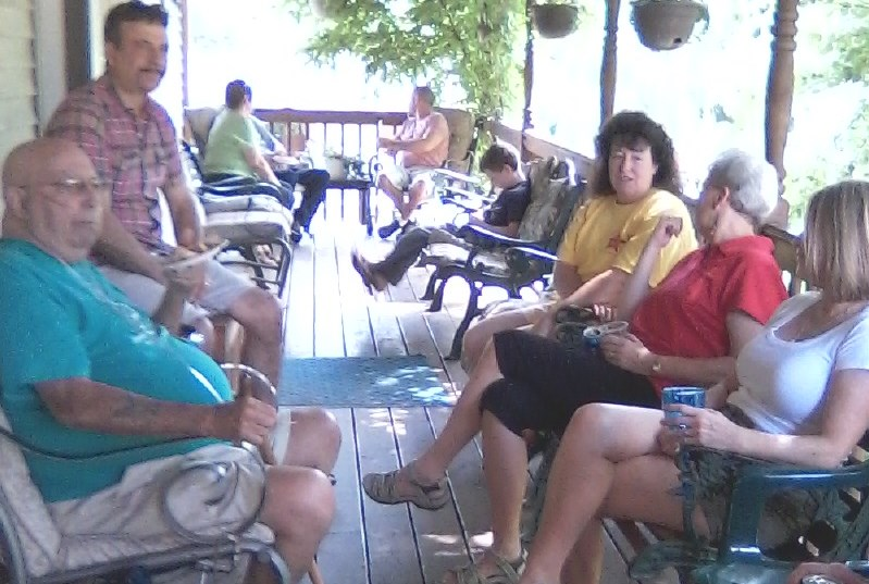 Monthly porch party (non Covid months)