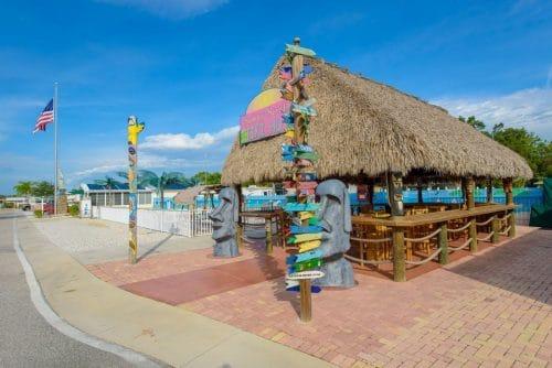 Resort Tiki Hut Next to Pool