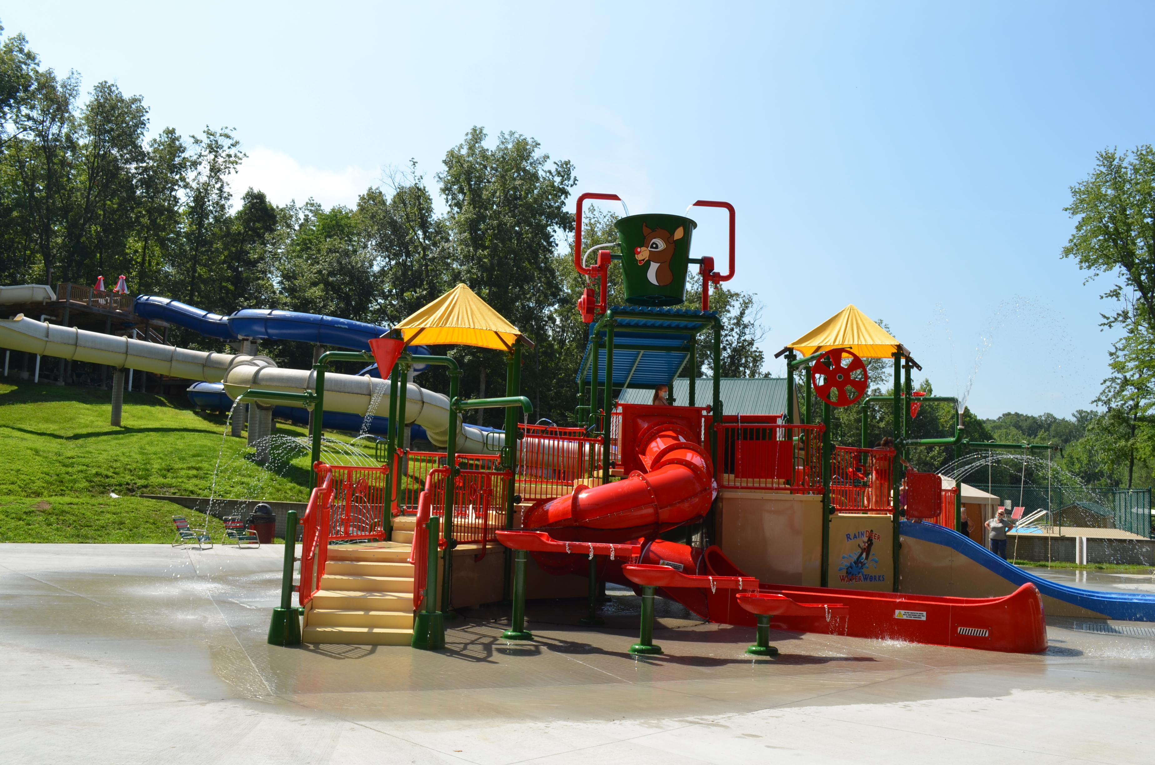 Water Park at Lake Rudolph Campground & RV Resort in Santa Claus, Indiana
