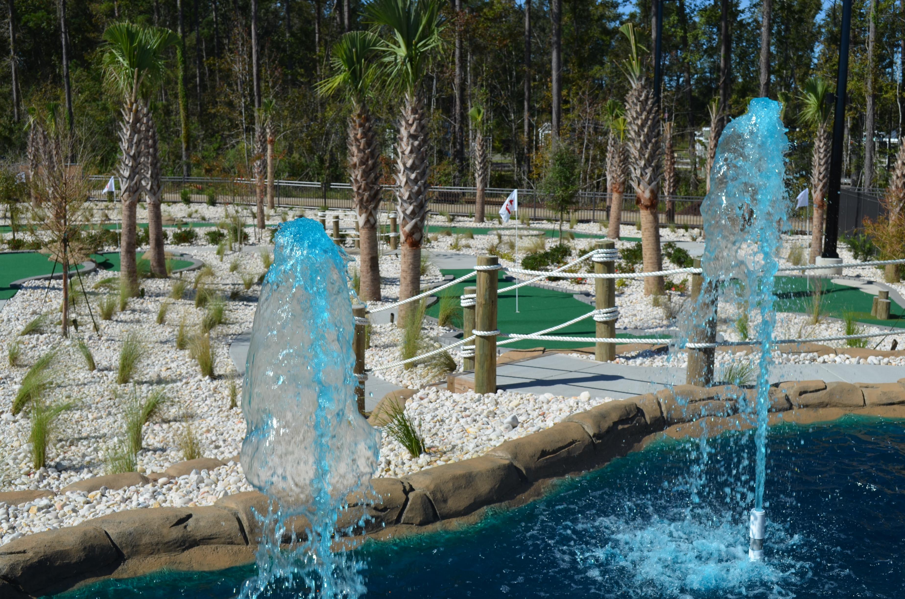 18 hole mini golf course at Carolina Pines RV Resort near Myrtle Beach, South Carolina