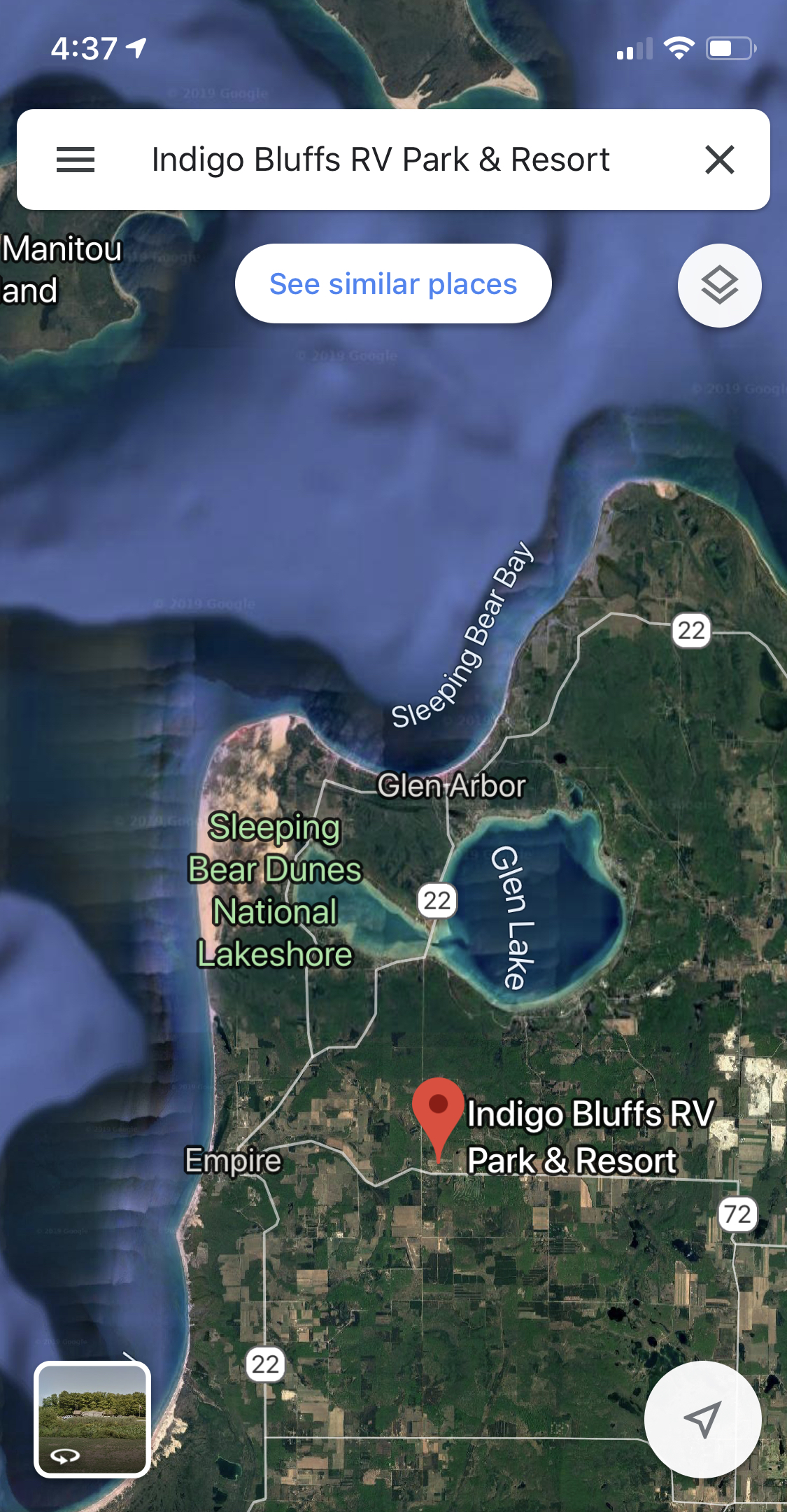 Surrounding area shown on Google Maps