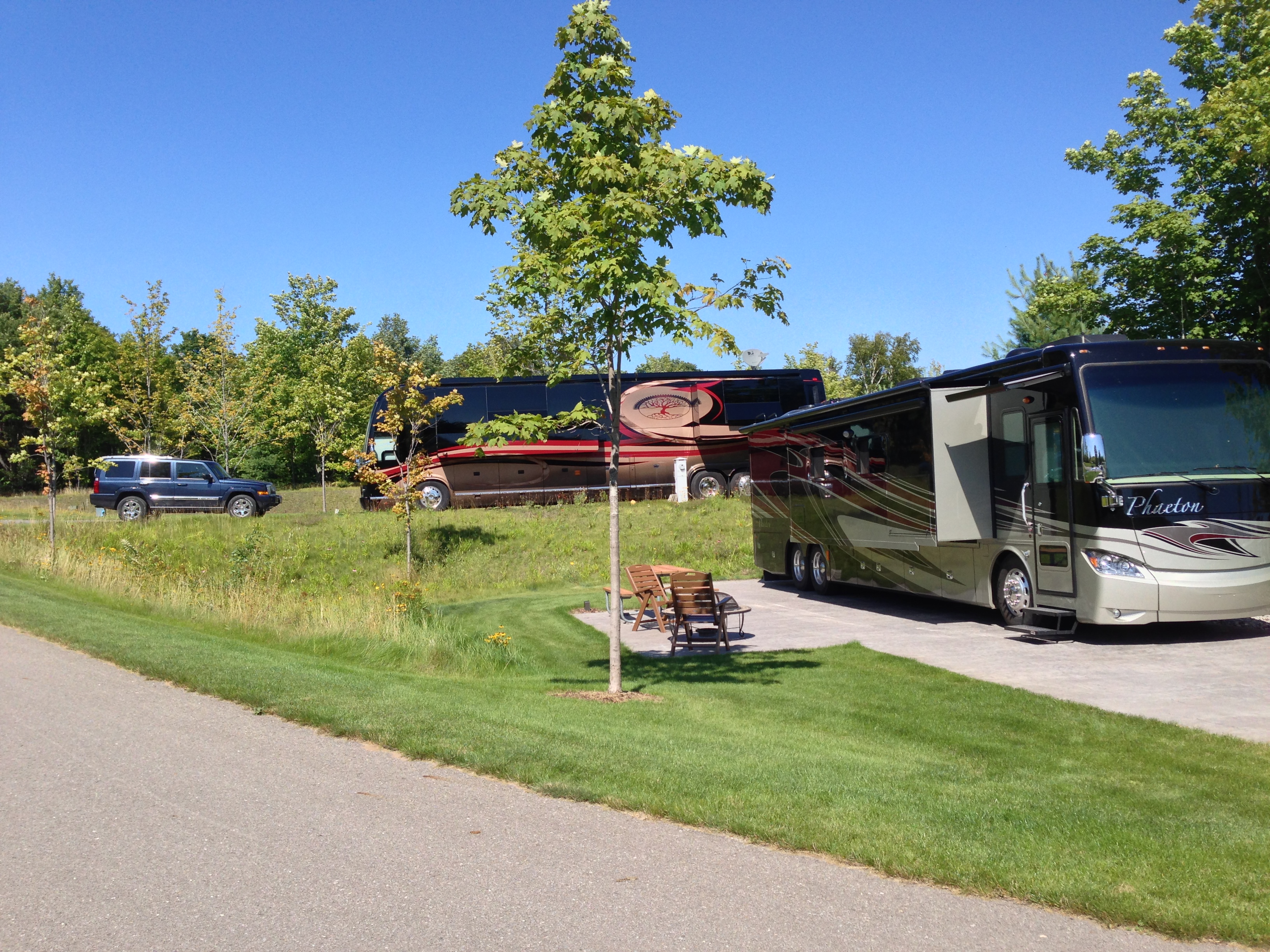 Showing off some of our unique RV Resort topography