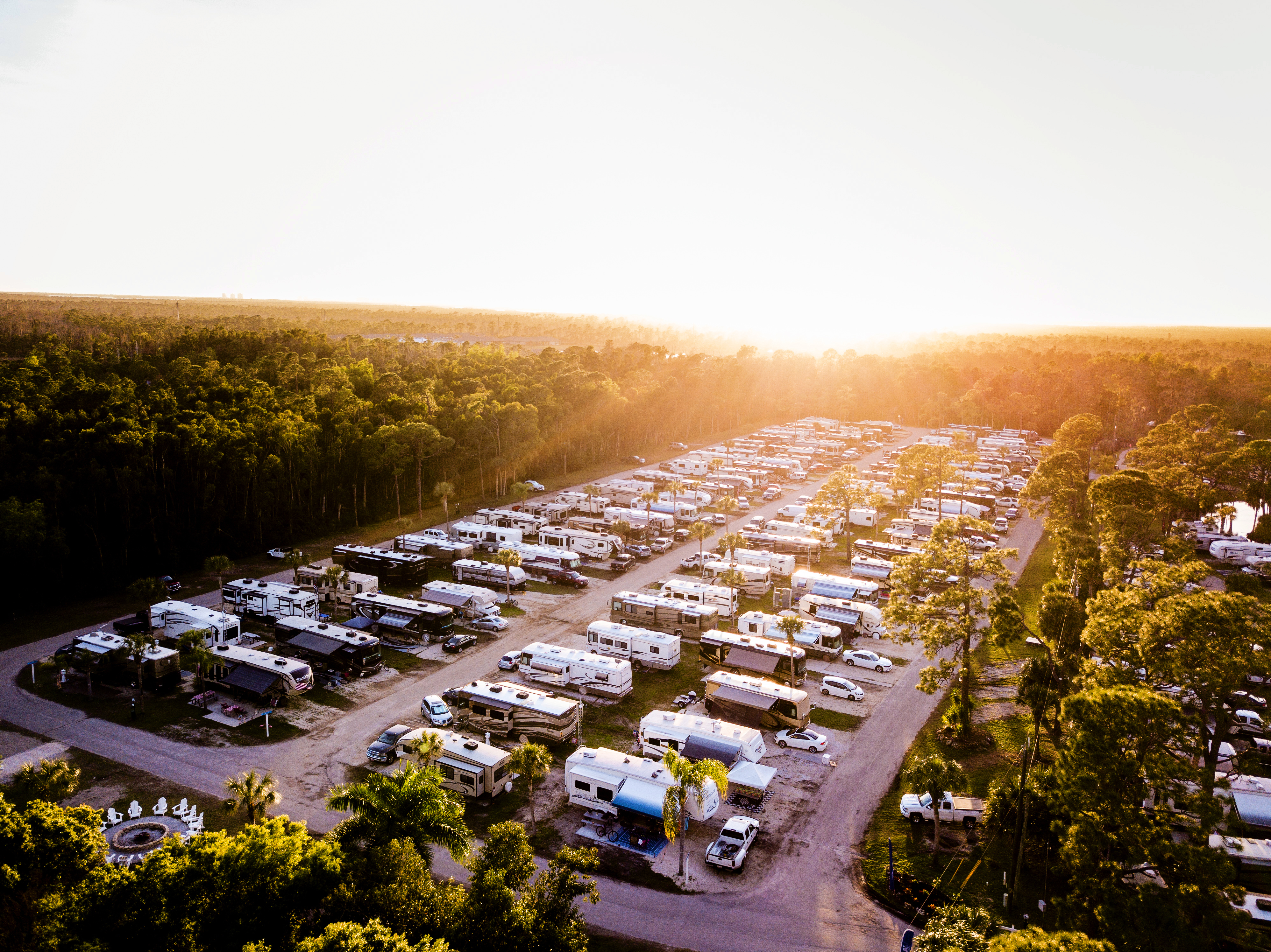 Overview of a section within Shady Acres RV Travel Park