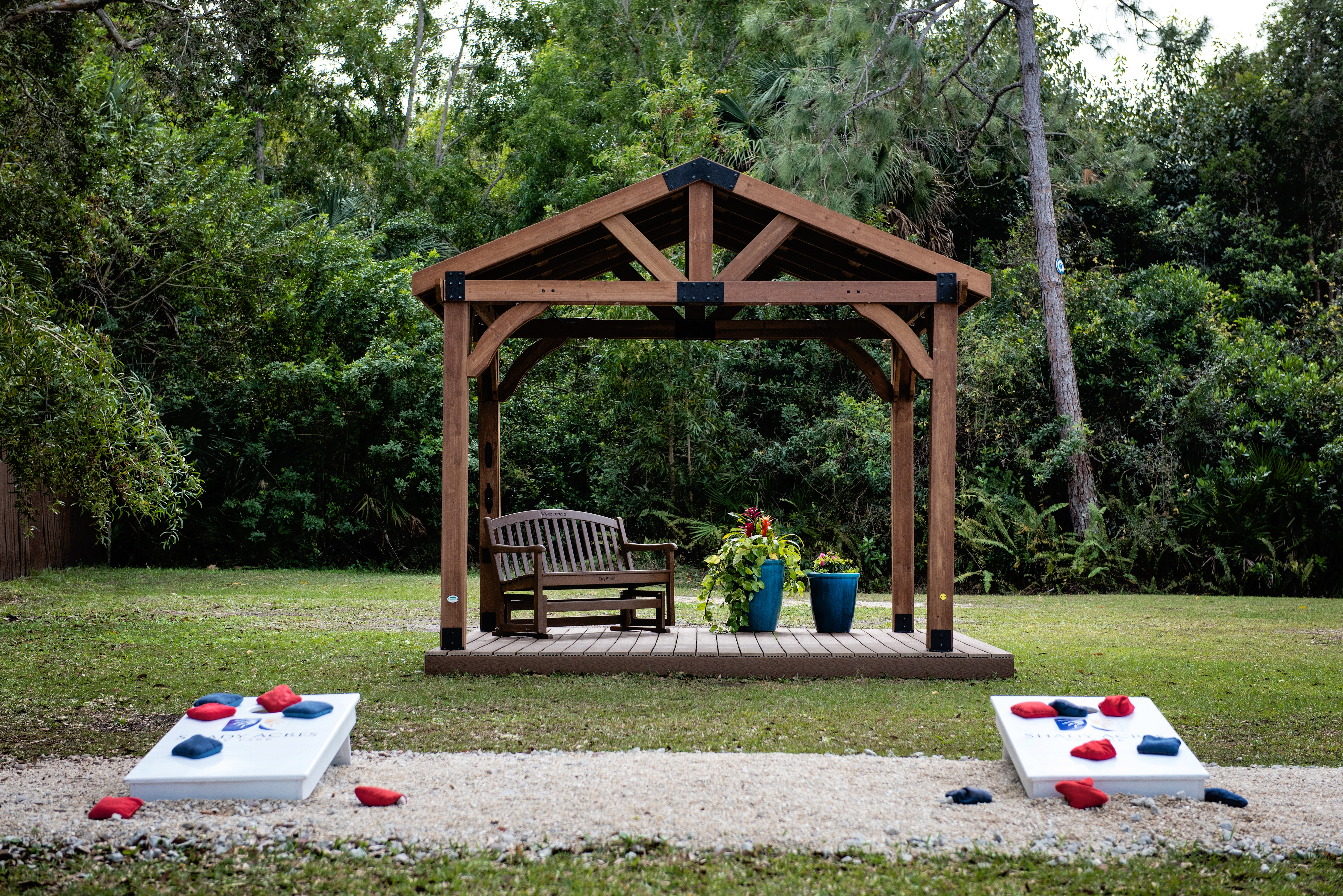 Sit back and relax or enjoy a game of corn hole.