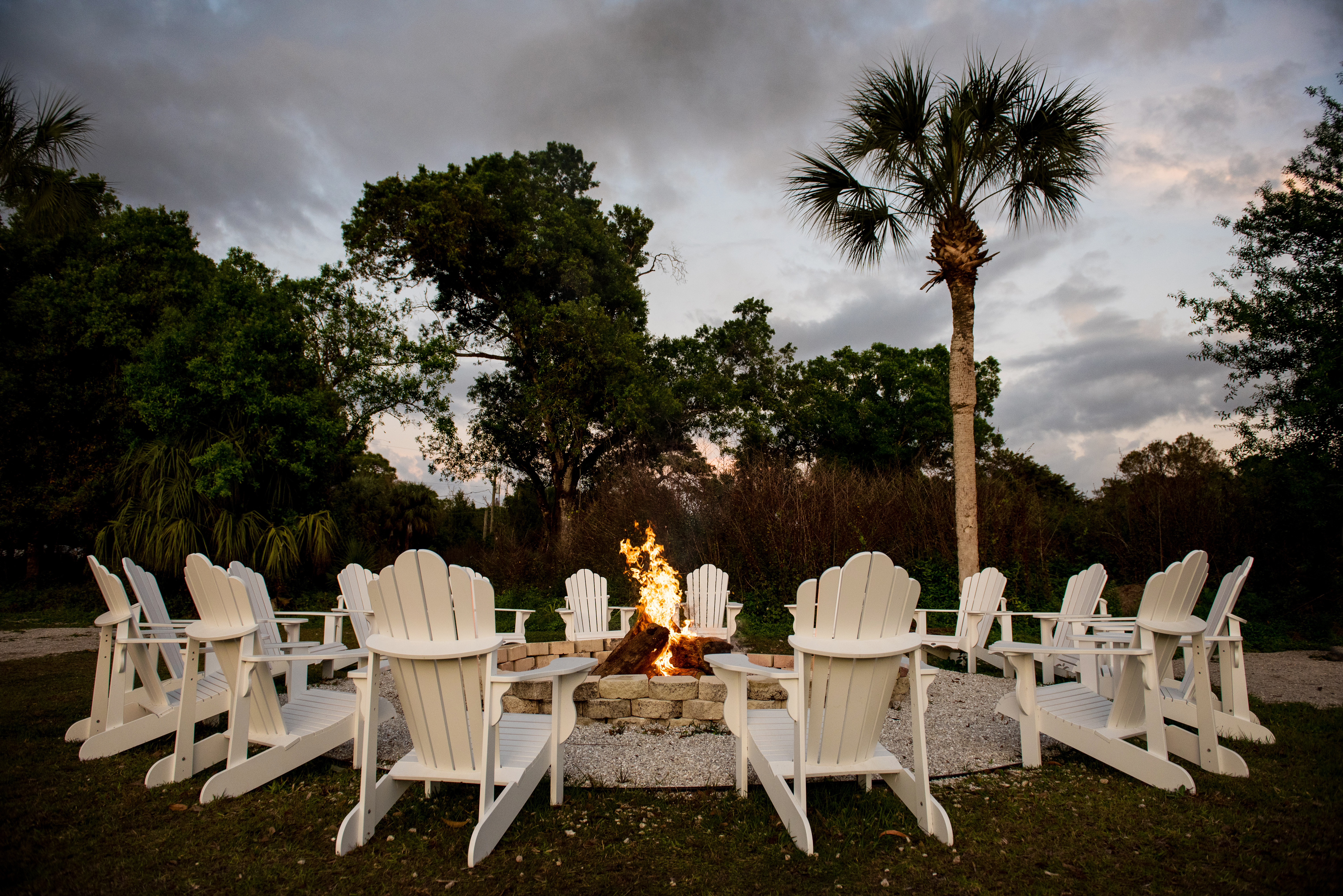 Grab a seat at our fire pit for some great stories.