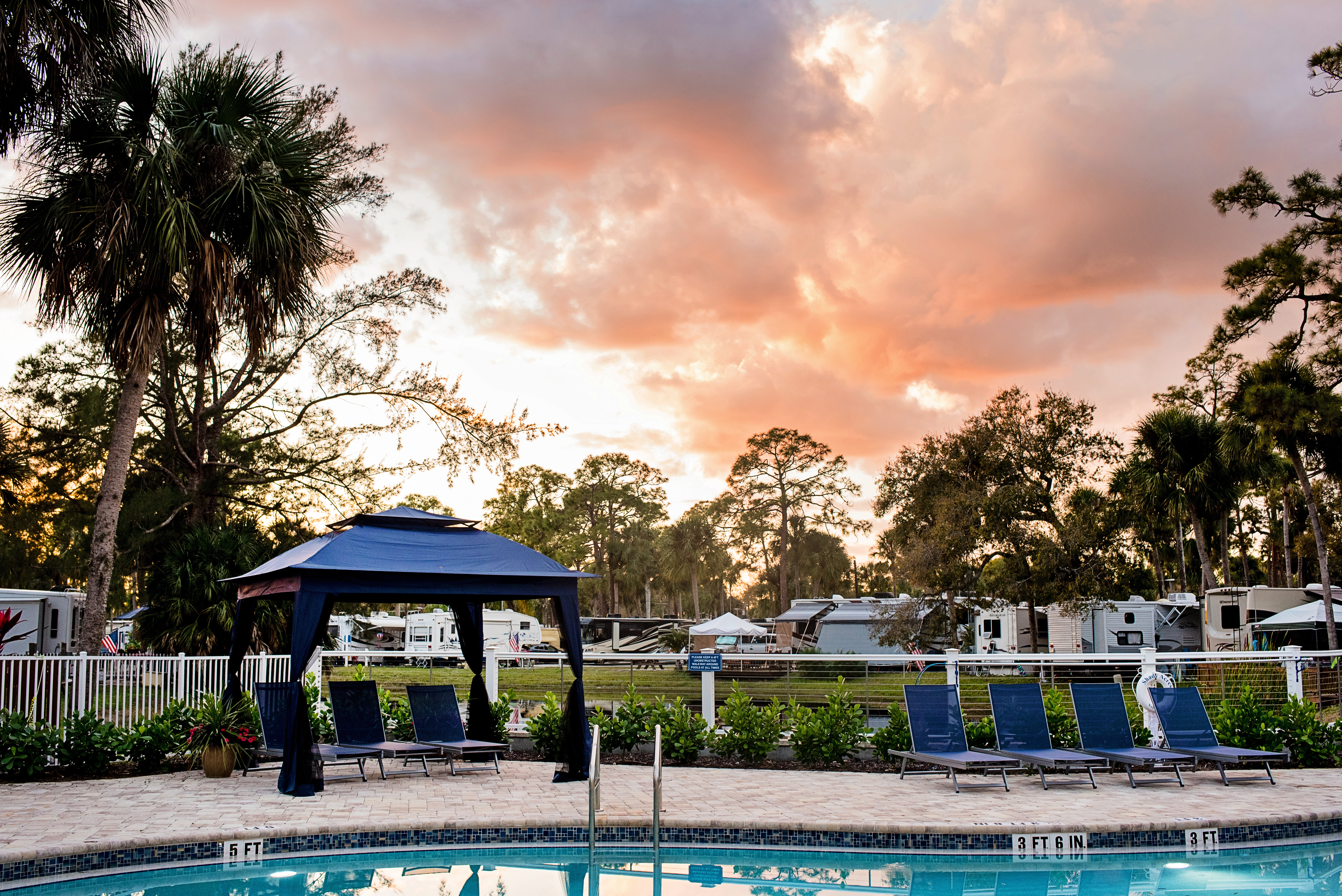 Sunset views right from our pool.