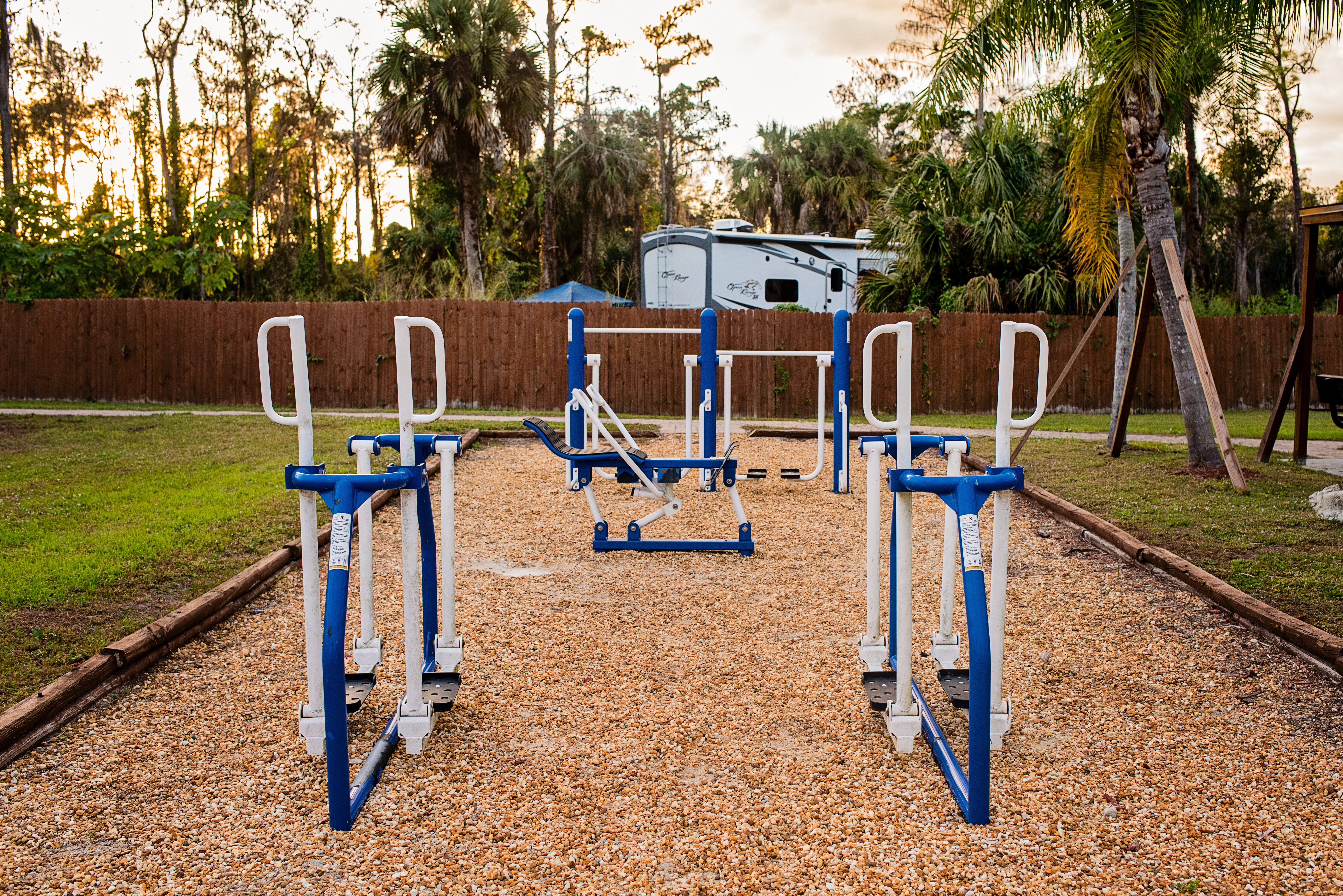 Our outdoor fitness area.