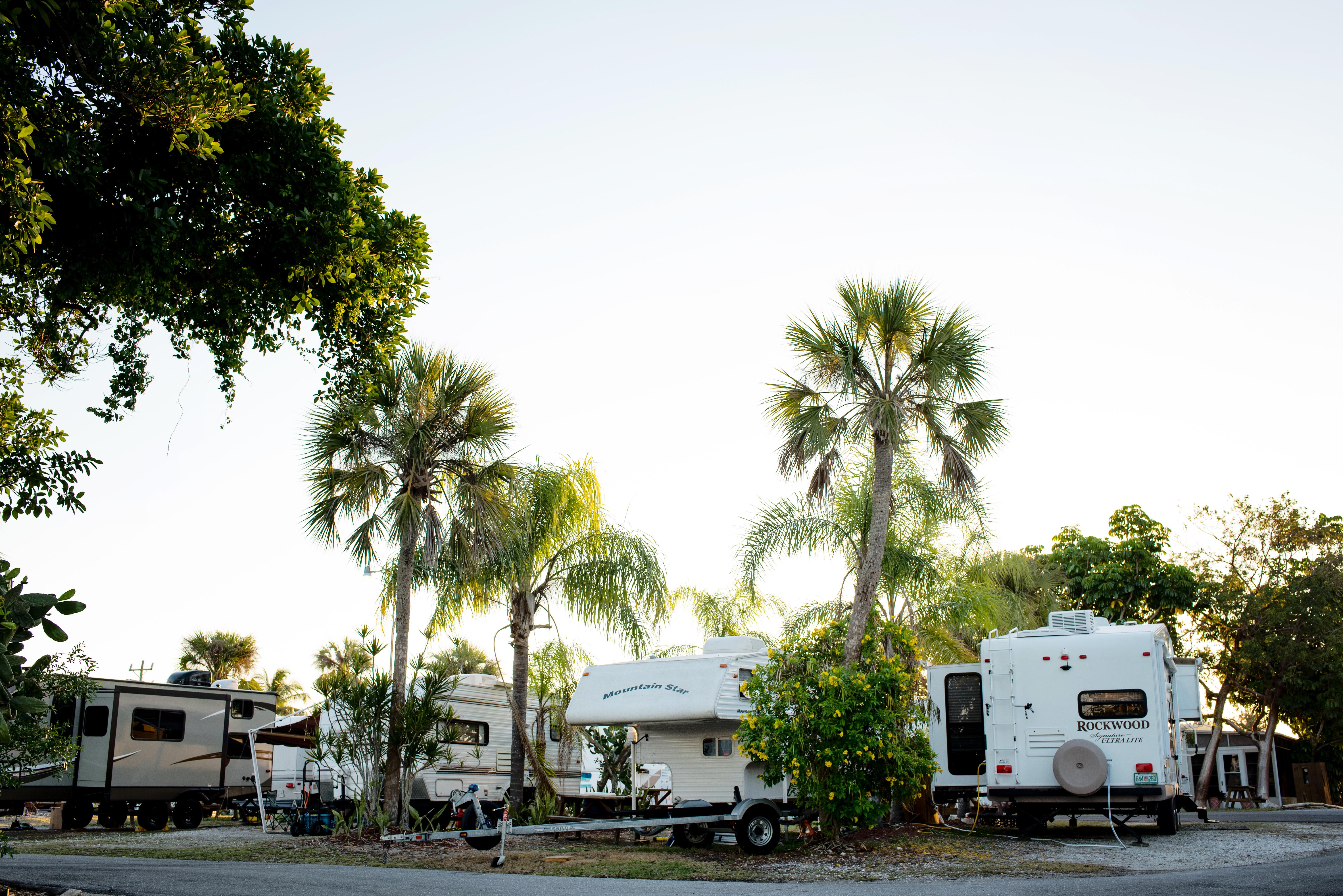 RV's enjoy easy access to the marina.