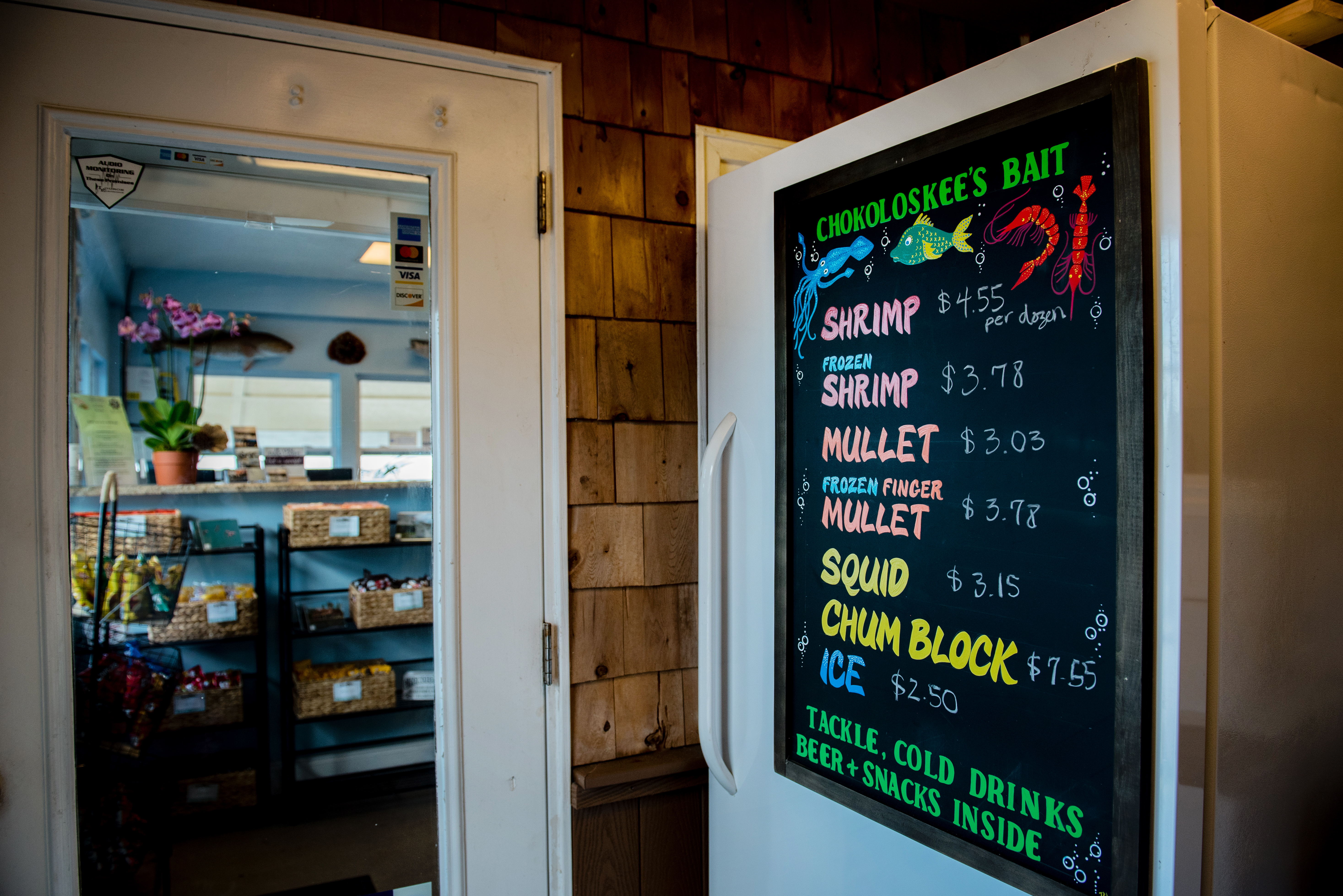 Entrance to our bait and tackle shop.