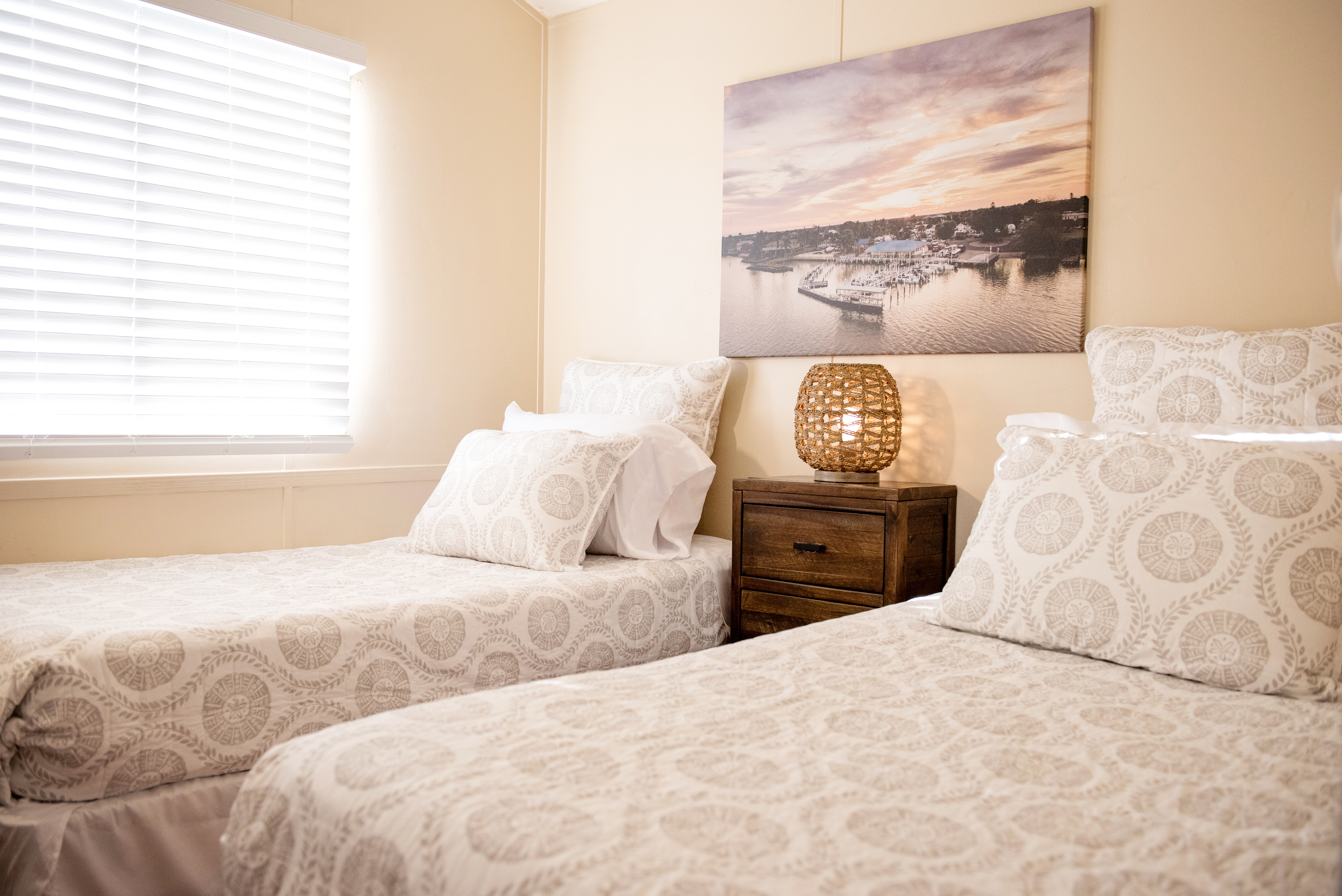 A view of the bedroom in one of our one bedroom units.