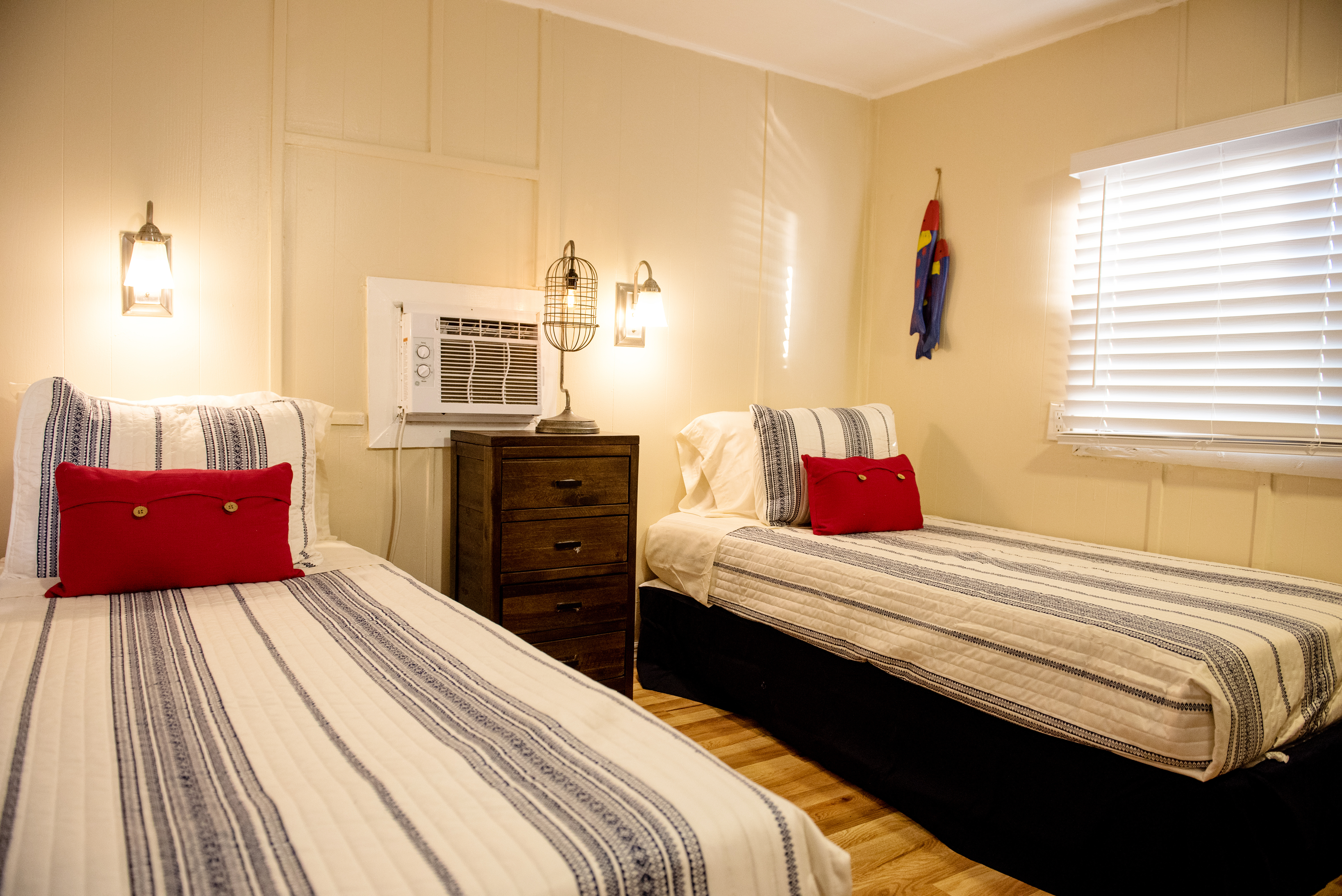 View of one of the bedrooms in one of our two bedroom units.