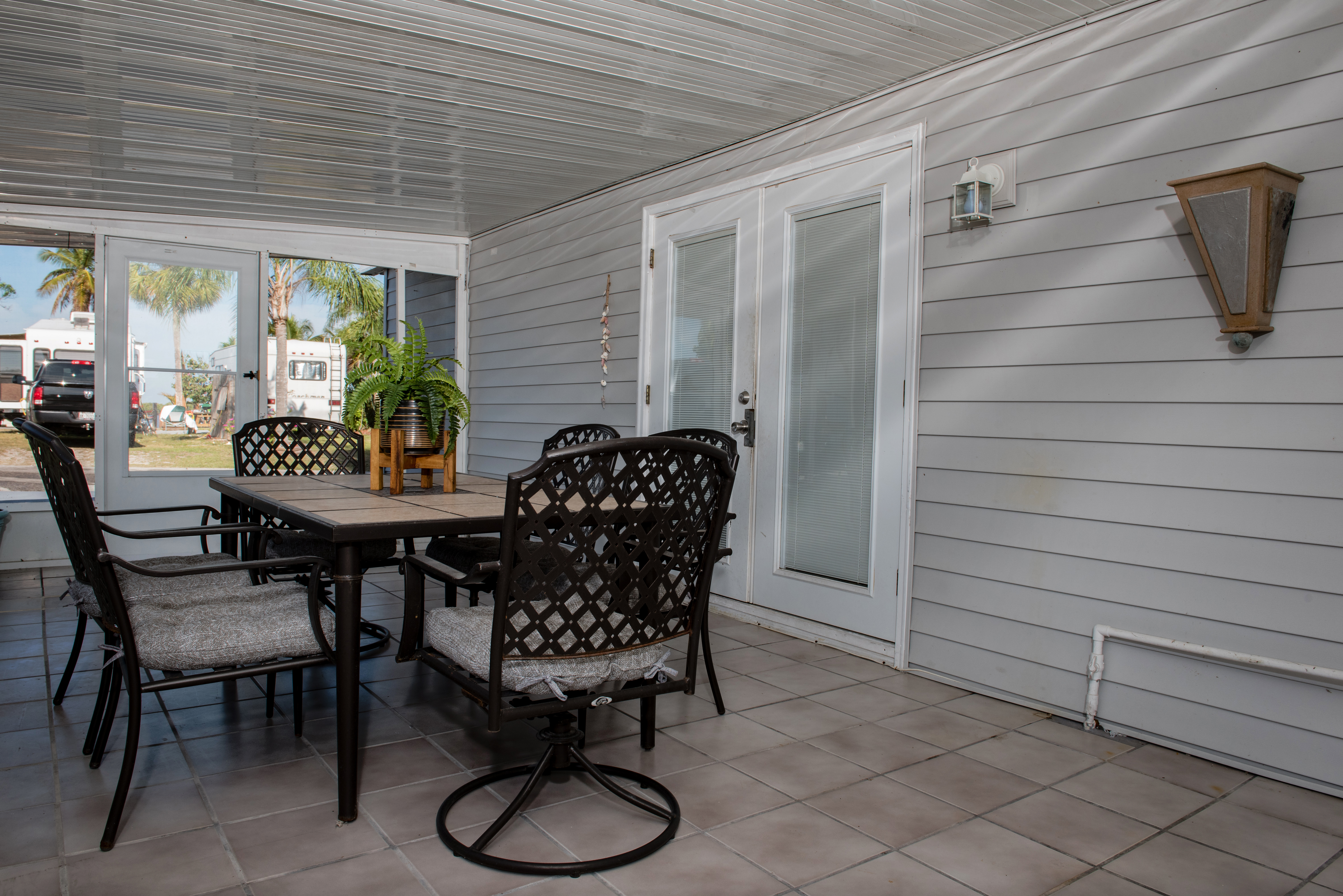 One of the porches at the Captain's Lodge.
