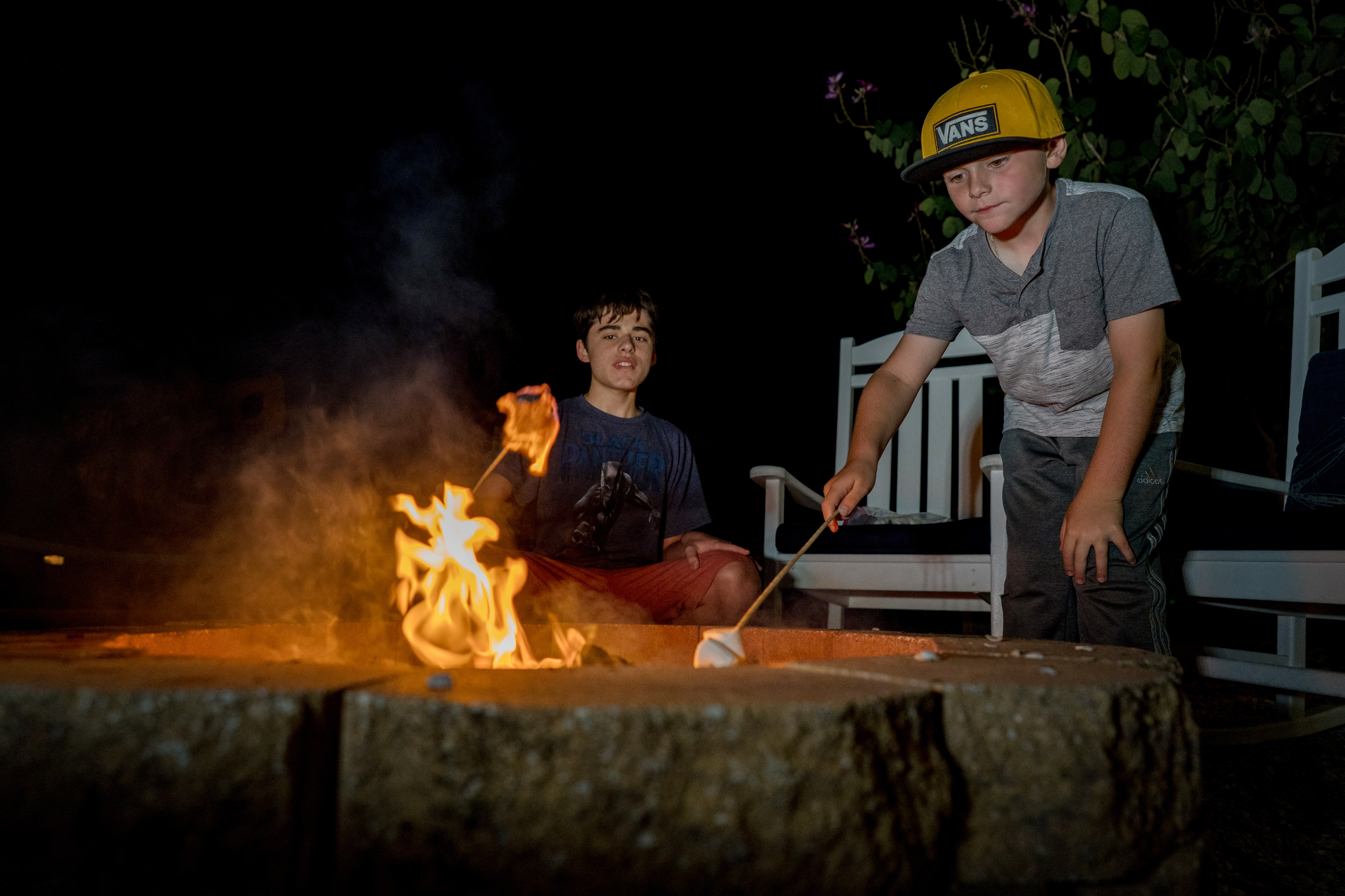 Our fire pit is great for marshmallow roasting and story swapping.