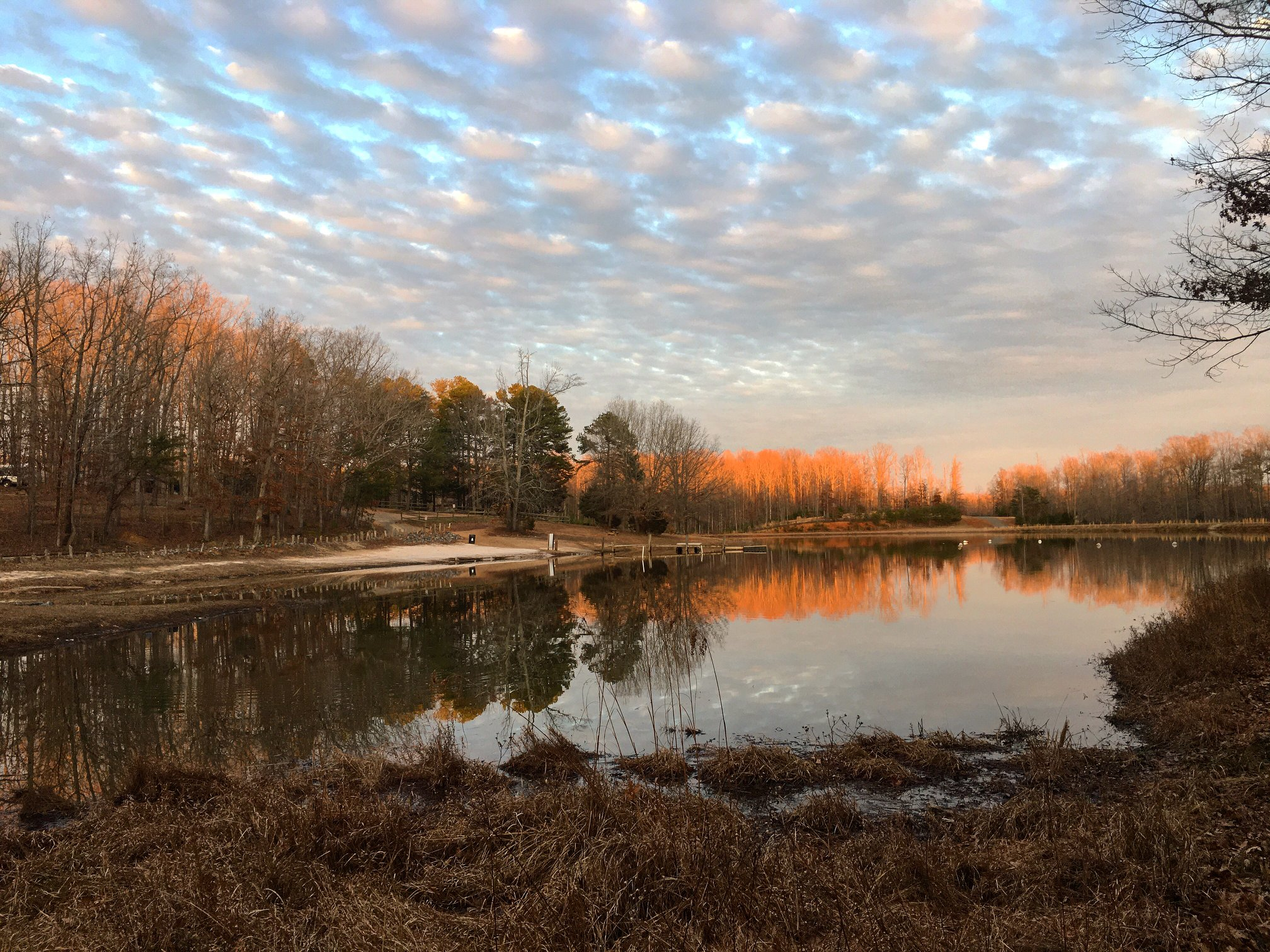 Our private, 25-acre lake is great for canoeing, swimming, or fishing!
