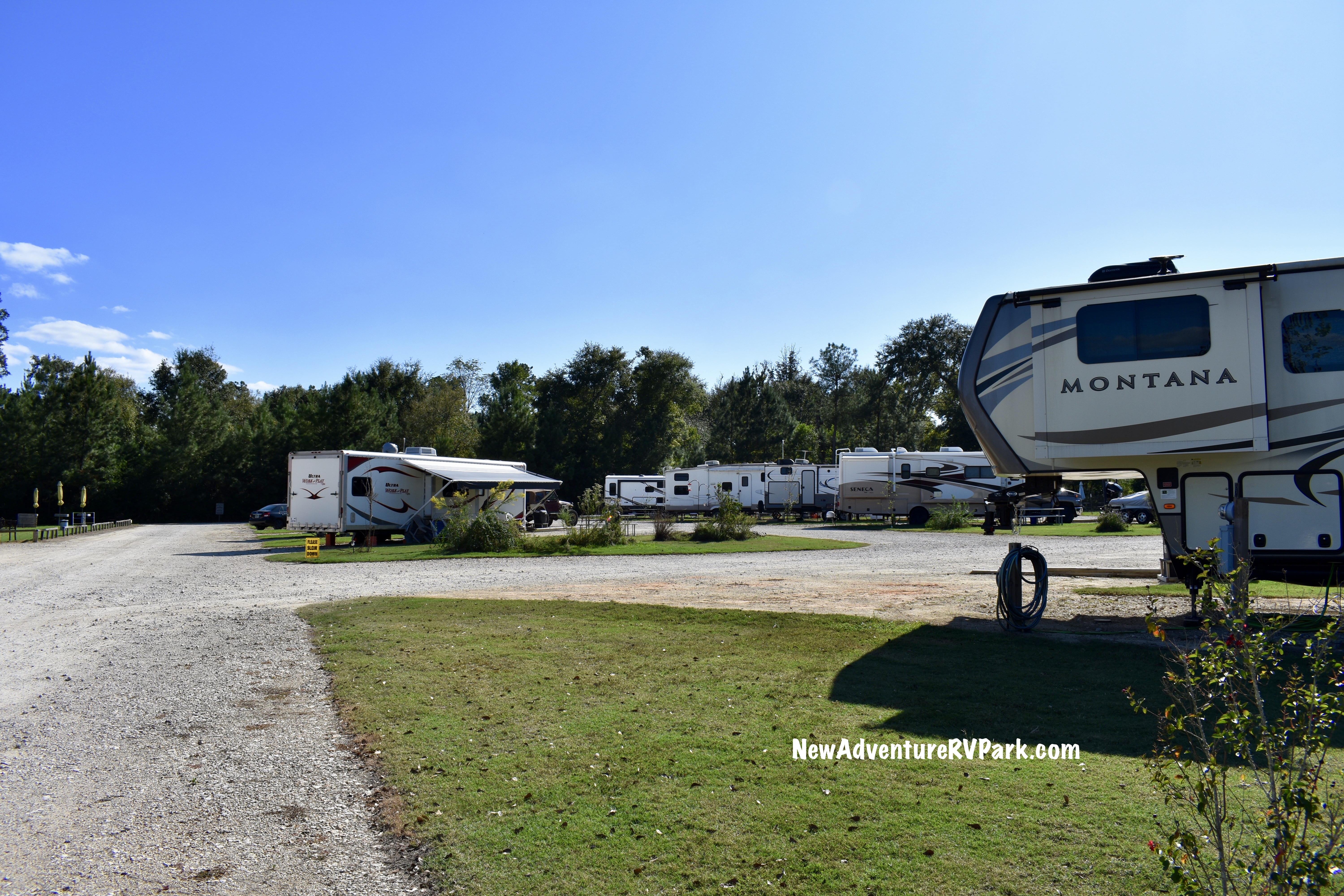 RV sites at New Adventure RV.