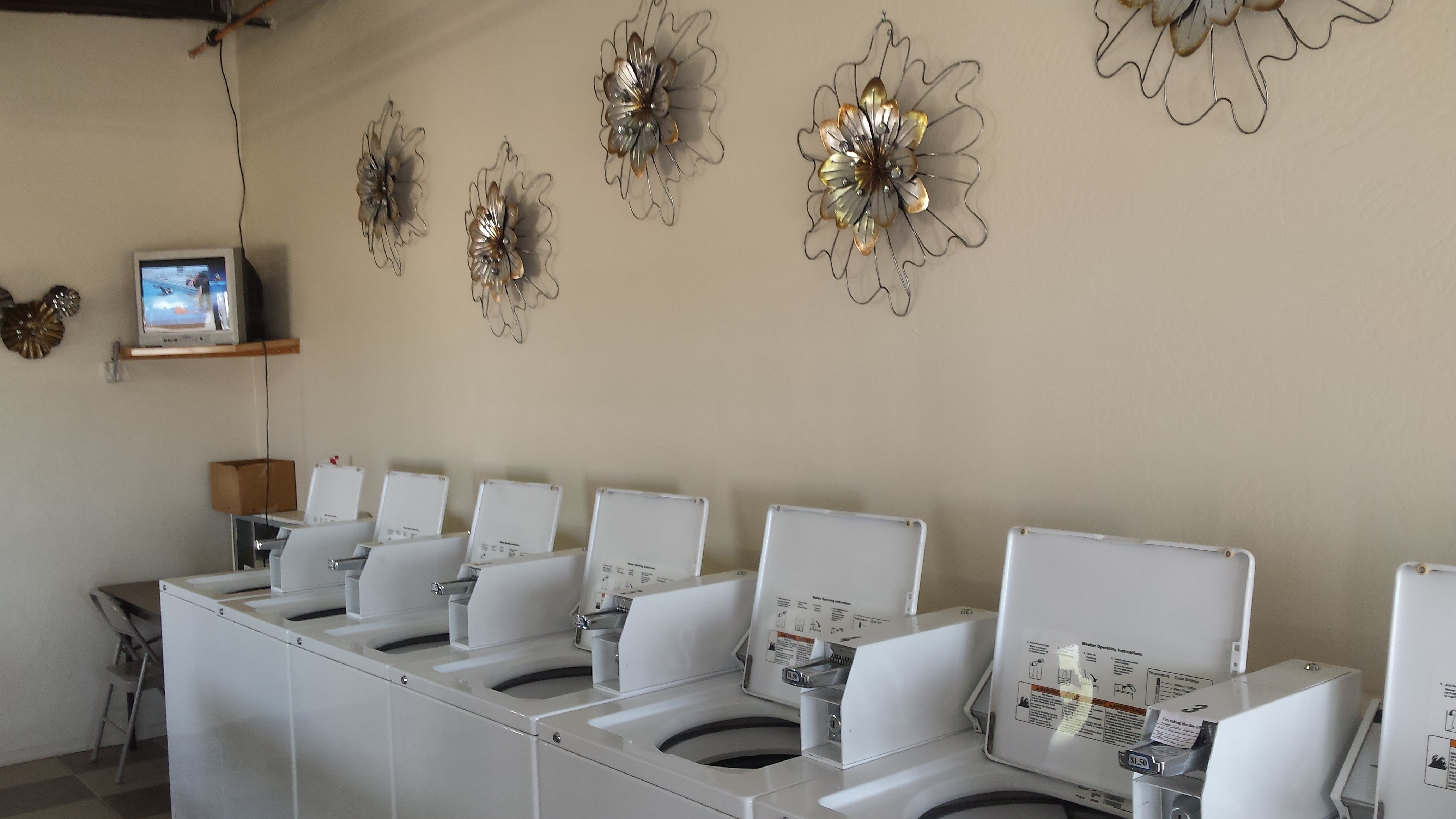 Laundry room with ample washers and dryer!