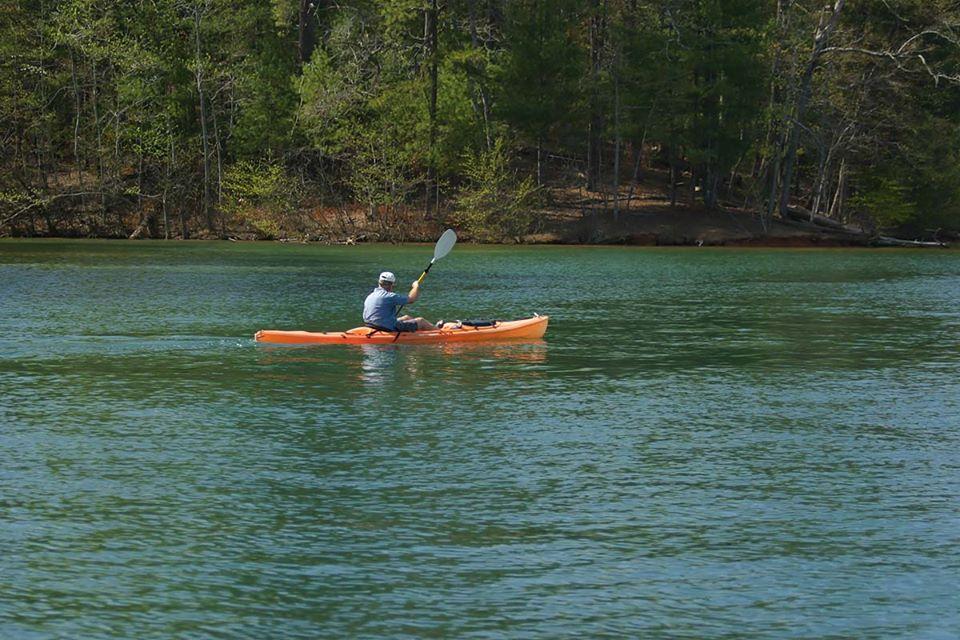 Kayaking on Lake James
