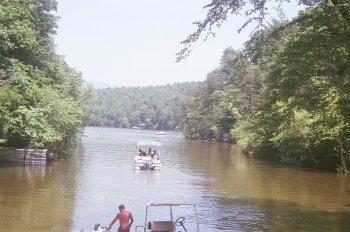 Cove at Private Boat Launch on Lake James