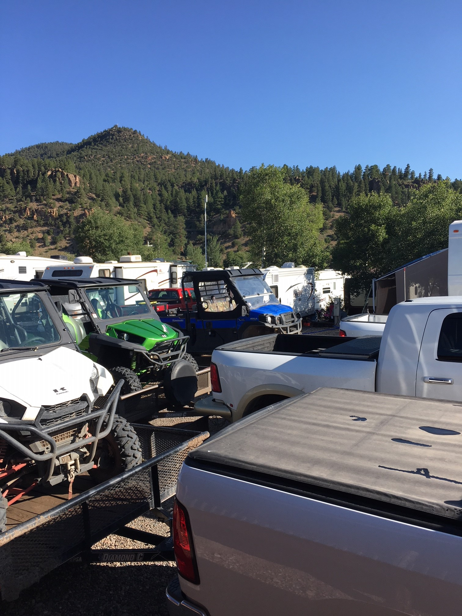 Trailer out to many other ATV trails in the area!
