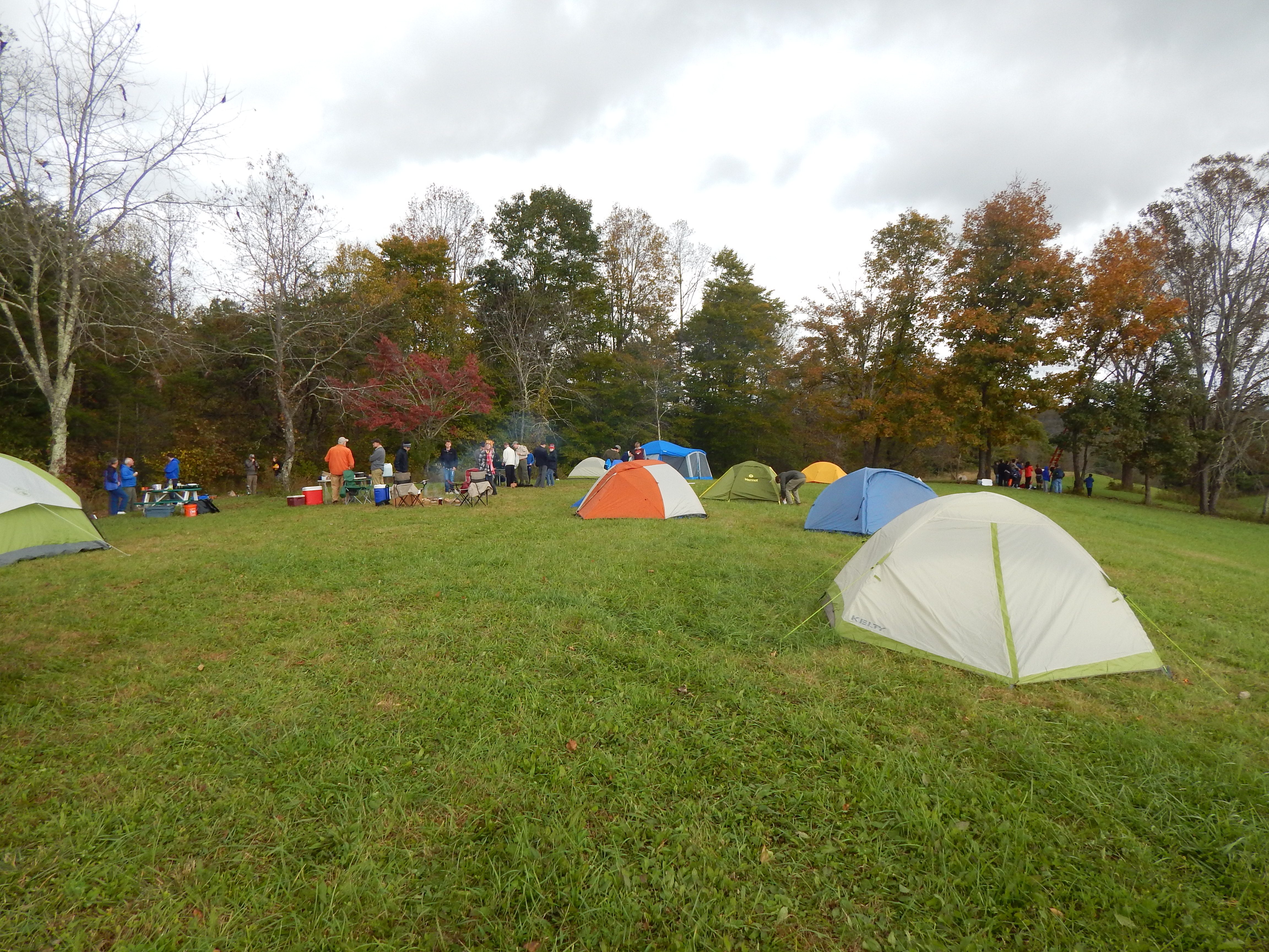 Great areas for group tent camping