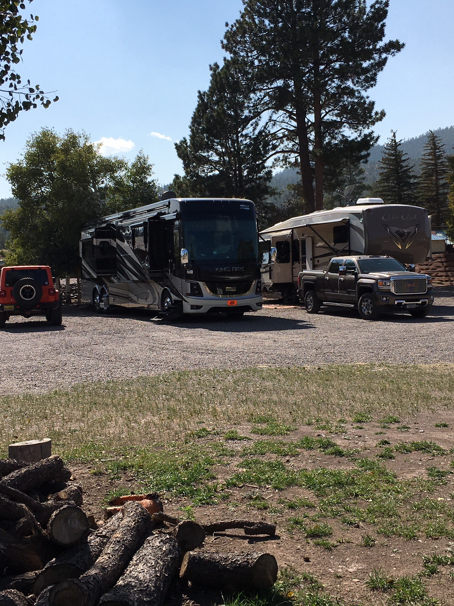 We welcome Big Rigs - Overflow Parking available for your OHV's and Trailers!