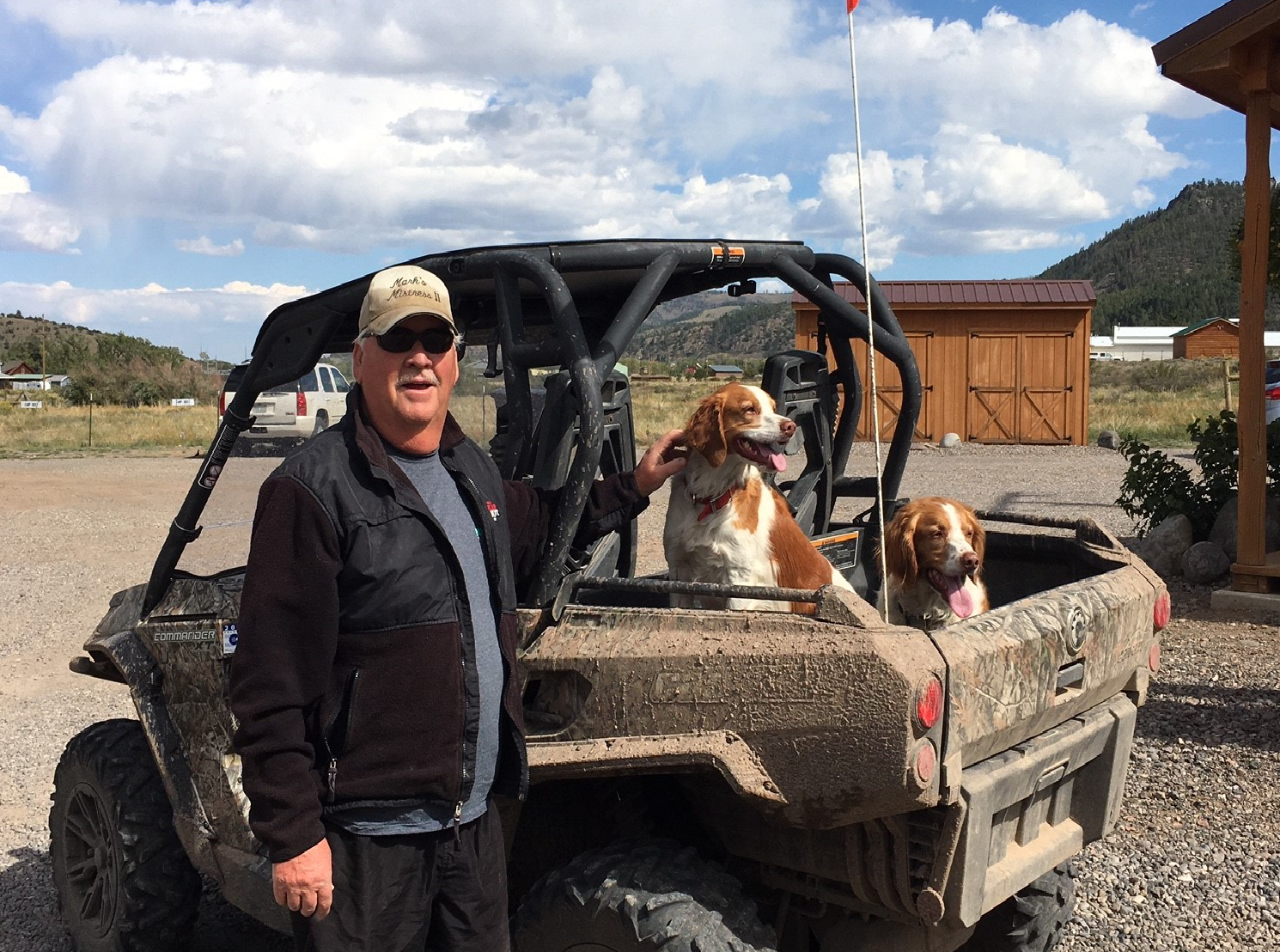 Even our furry friends like to go riding!