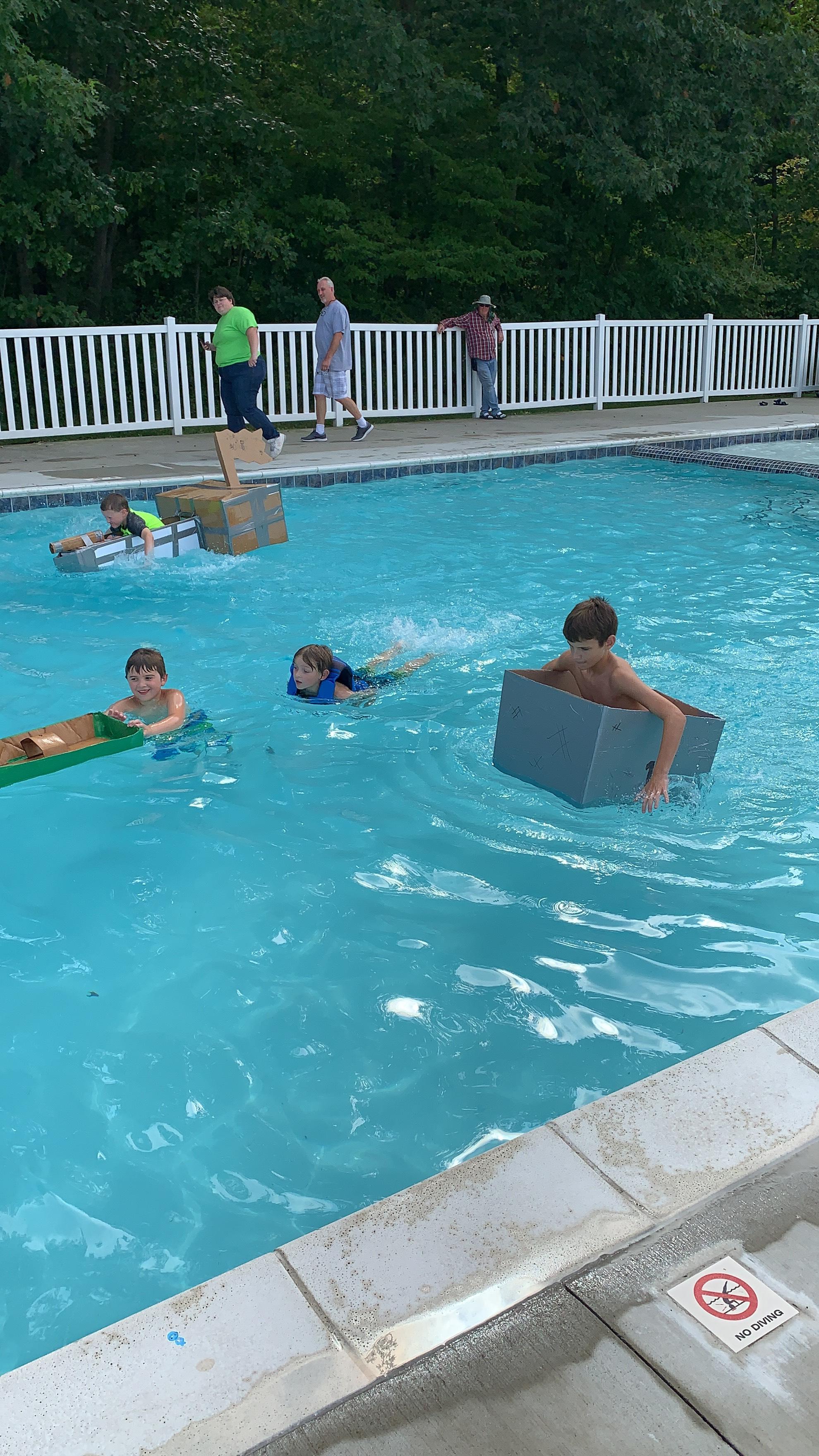 Pool activities every weekend