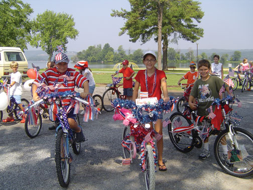 July 4 bike parade