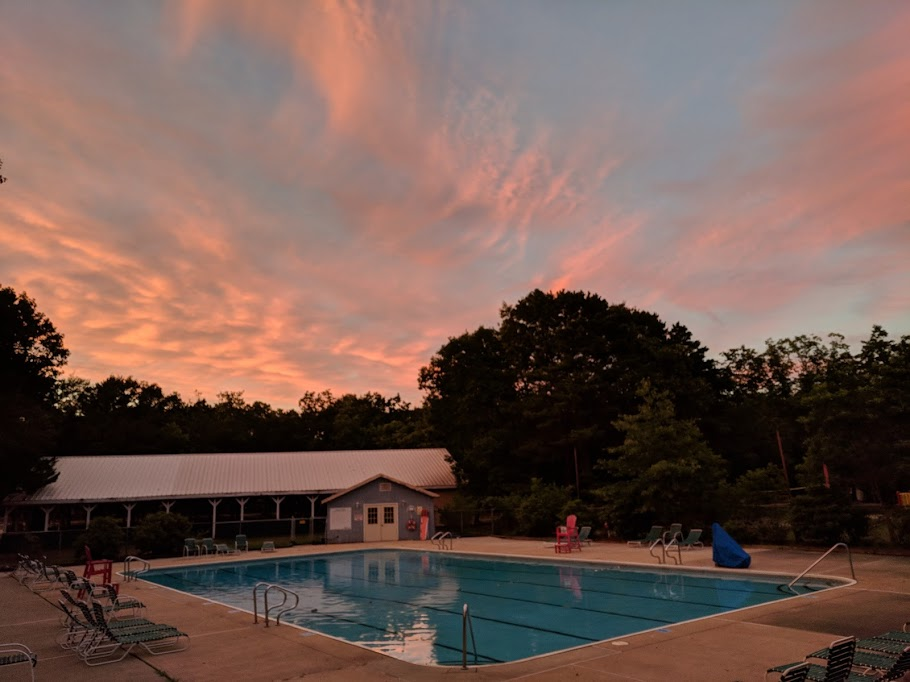 The summer sunsets are awesome!
