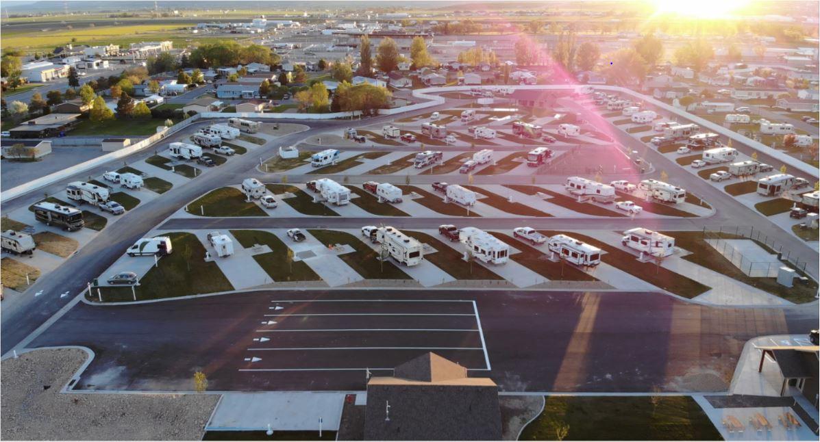 Aerial view of Aspen Grove Rv Park