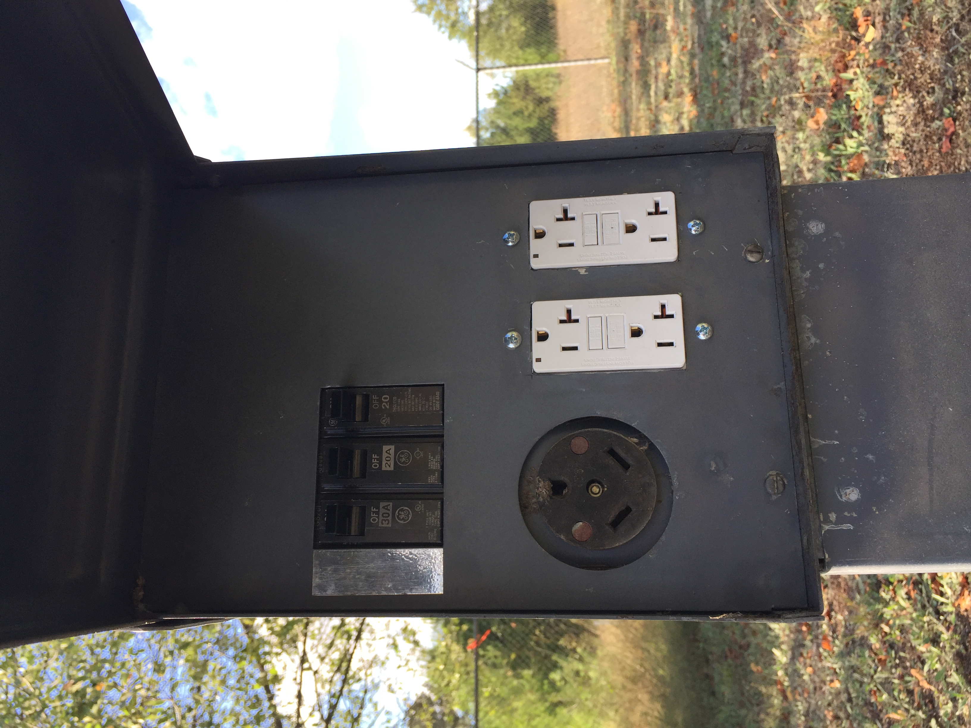 20/30 amp electric pedestals