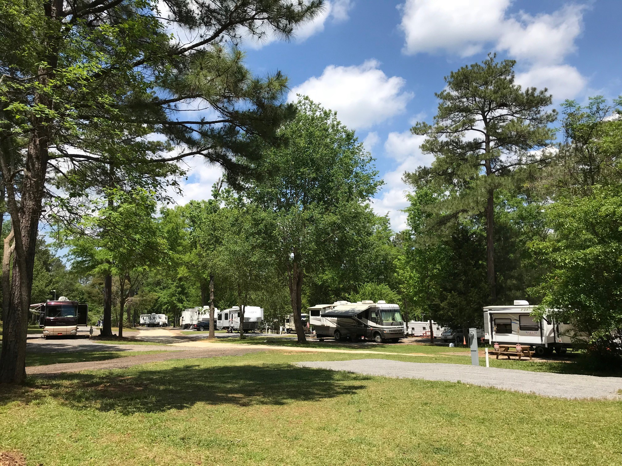 RV Sites in Park-Like Setting - We have beautiful trees and shade!