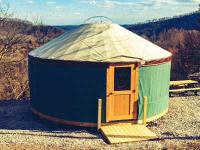 We have cabins, RV sites, primitive spots and can you believe we have yurts?!