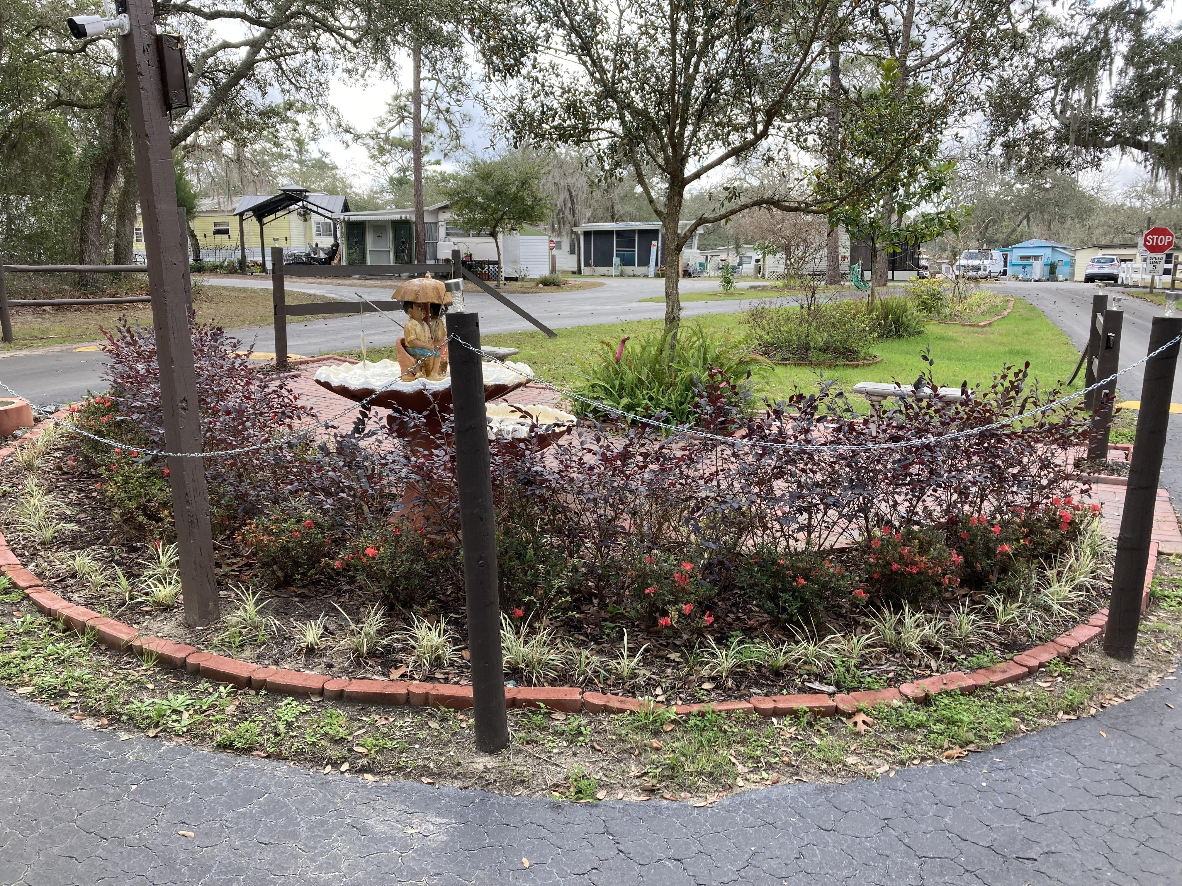 Entrance Garden and Fountain