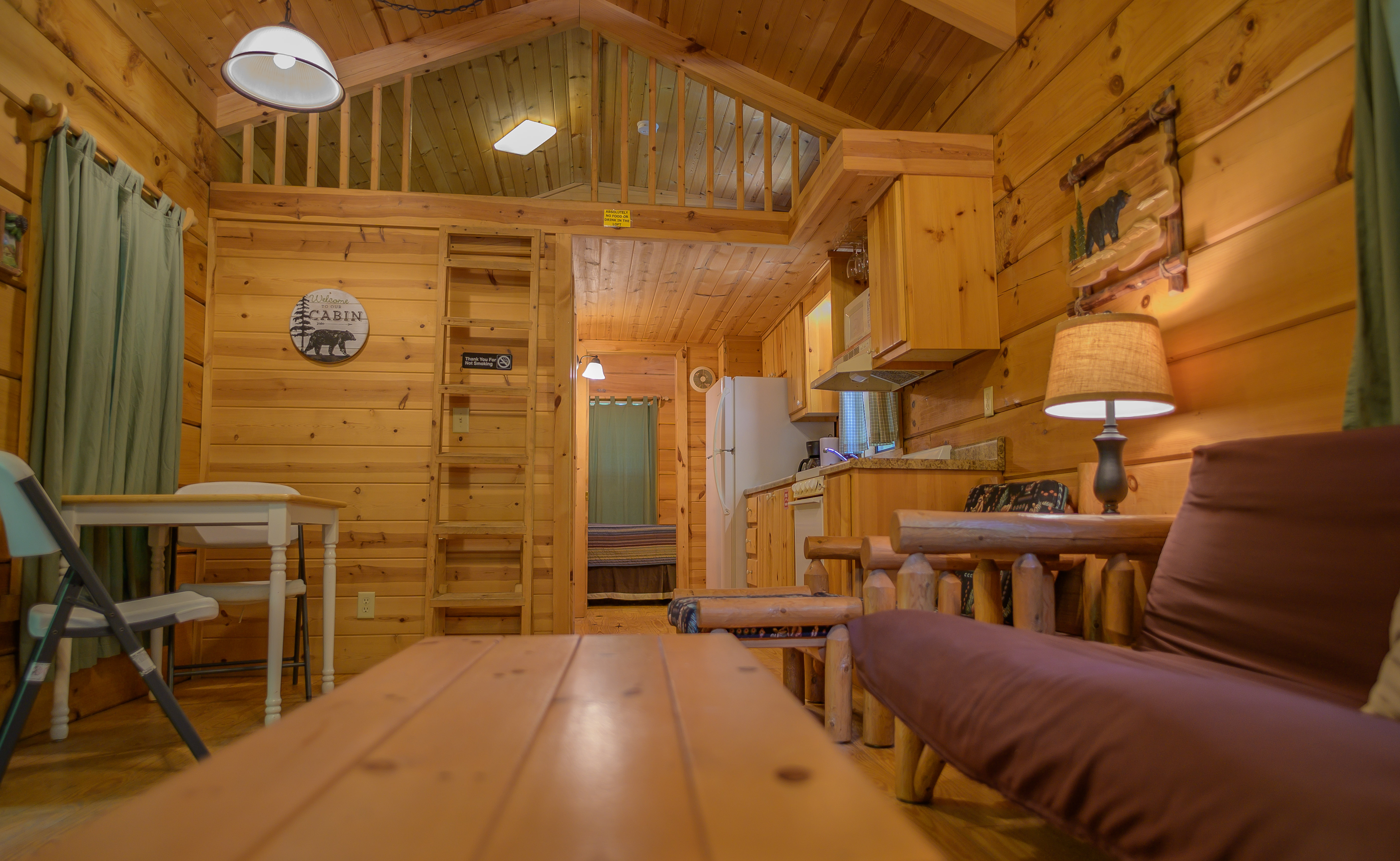 Inside a Deluxe Cabin