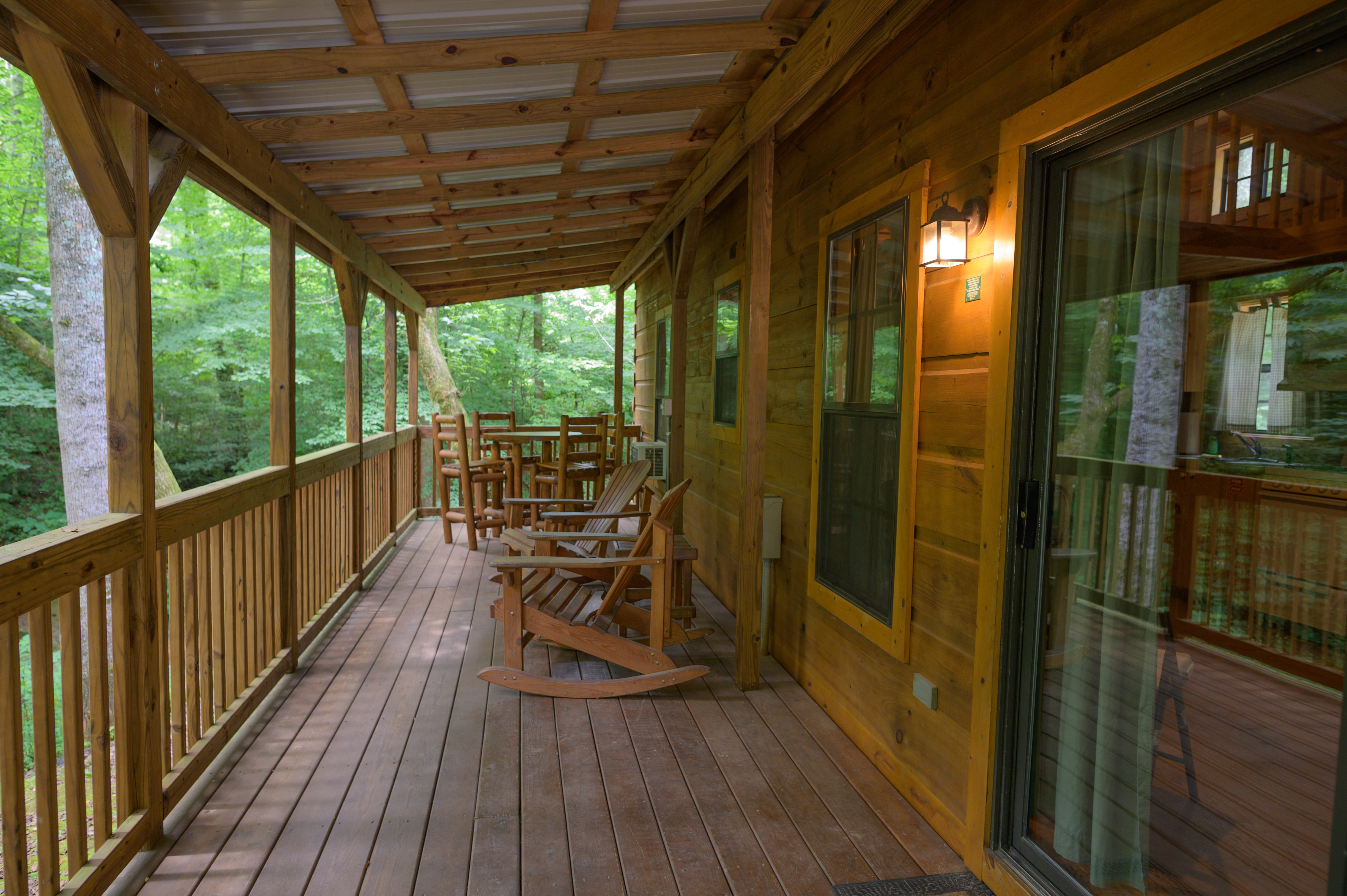 Front Porch of a Deluxe Cabin