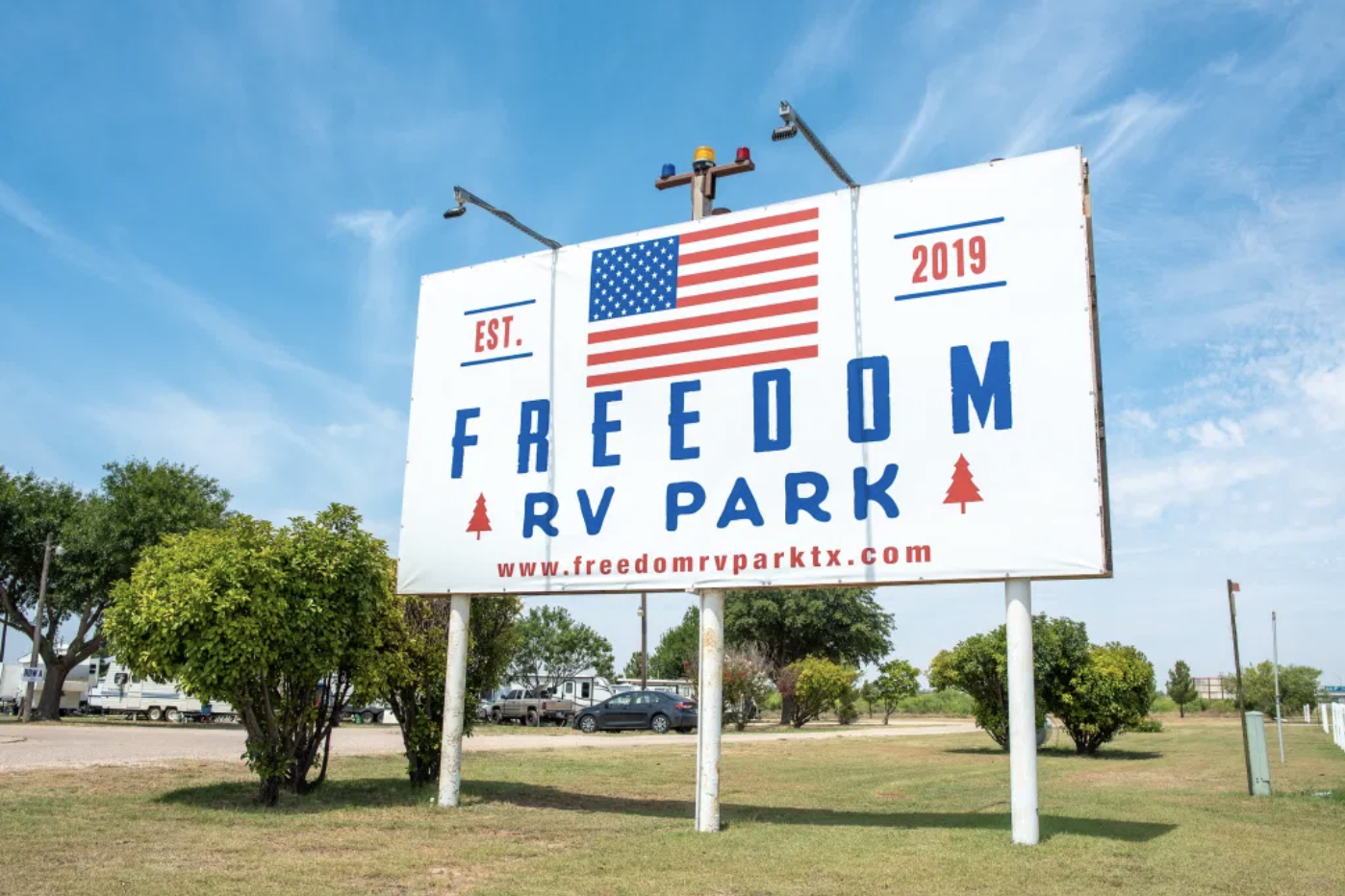 Freedom RV Park-Sign