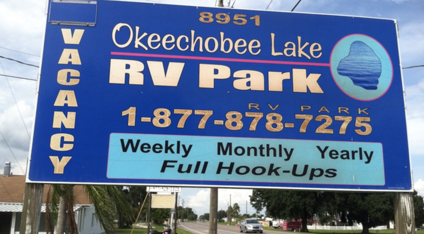 Okeechobee Lake RV Park-Park Sign